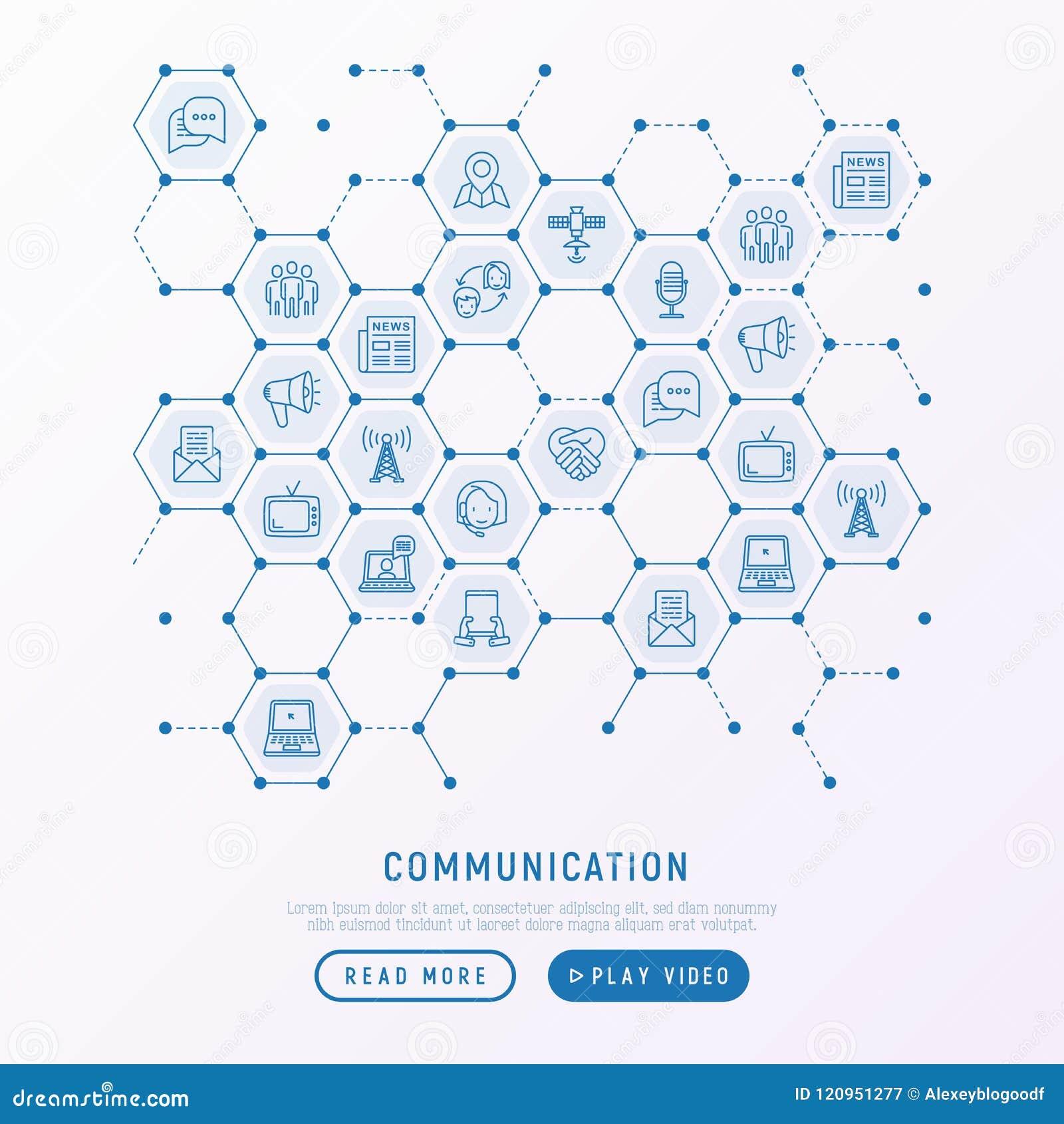 Komunikacyjny pojęcie w honeycombs