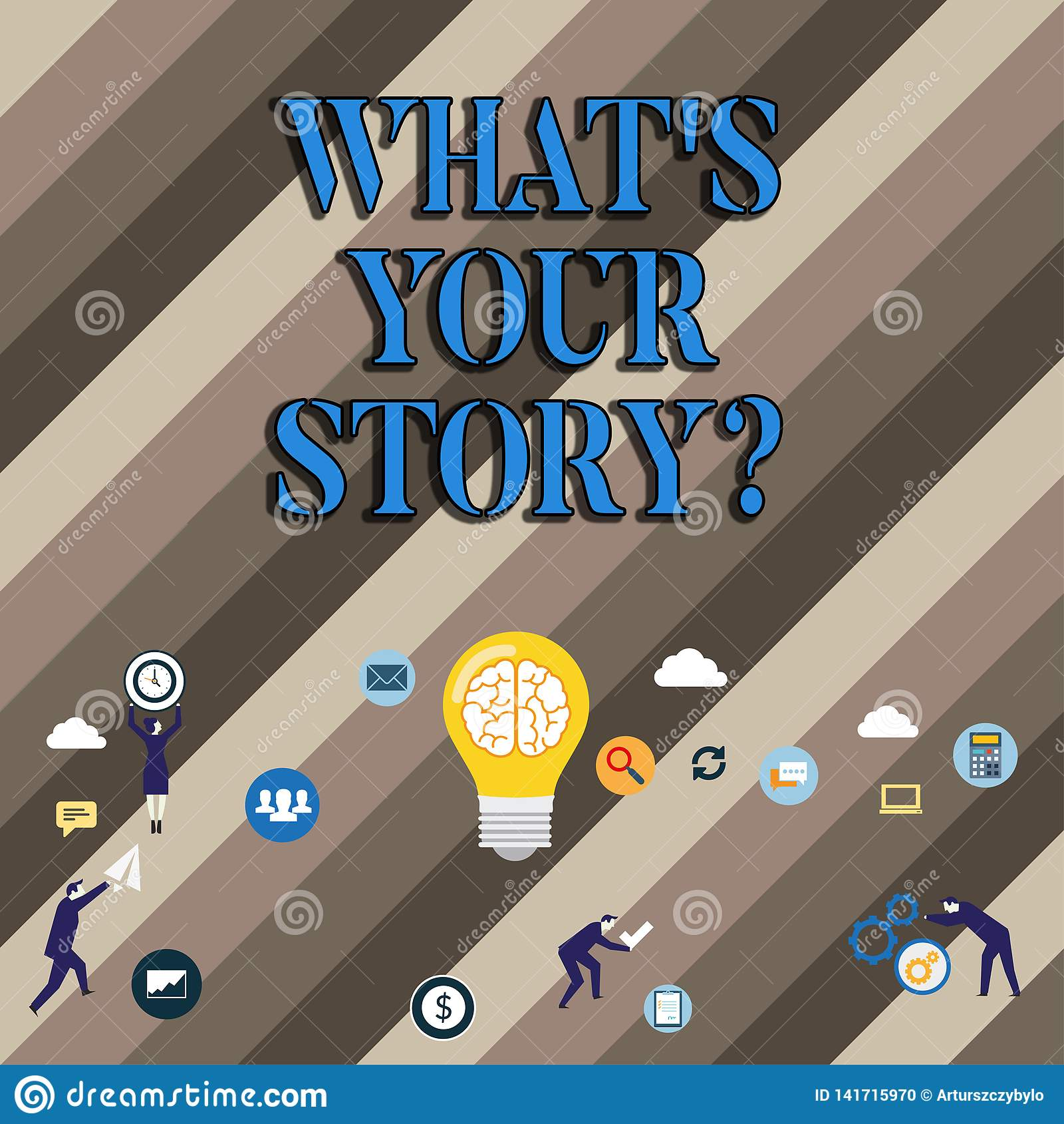 Konceptualna ręka pisze pokazywać Jaki S Twój Storyquestion Biznesowy fotografii pokazywać Łączy Komunikuje łączliwość związek