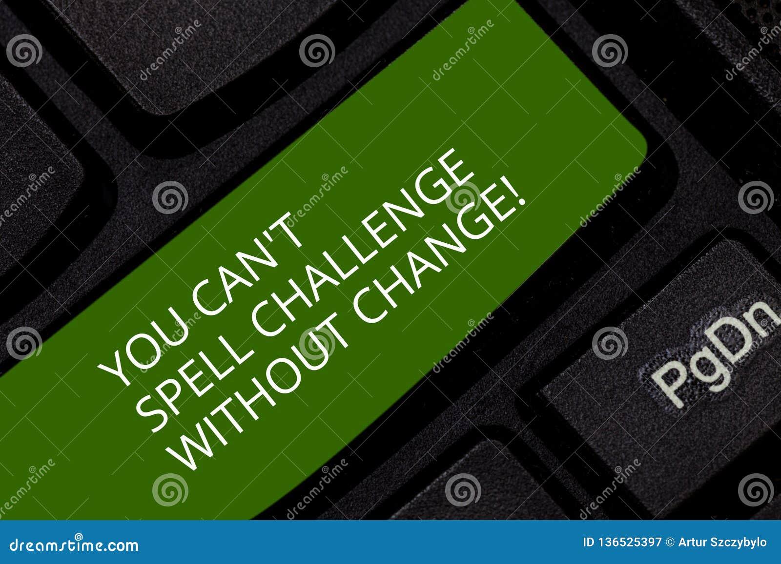 Konceptualna ręka pisze pokazywać Ciebie Może Bez zmiany T czary wyzwanie Biznesowy fotografii pokazywać Robi zmianom osiągać