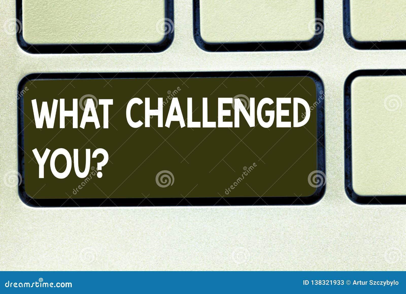 Konceptualna ręka pisze pokazywać Co Rzucał wyzwanie Ciebie Biznesowy fotografia teksta wezwanie someone uczestniczyć w konkurenc