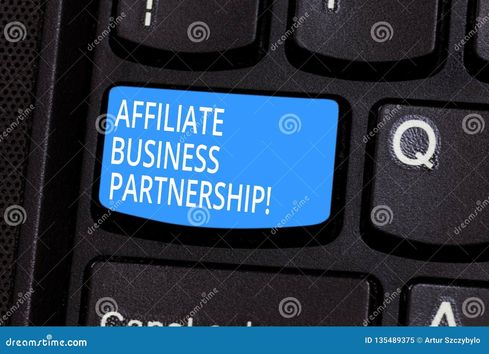Konceptualna ręka pisze pokazywać filia biznesu partnerstwo Biznesowego fotografia teksta Intercompany związek promować