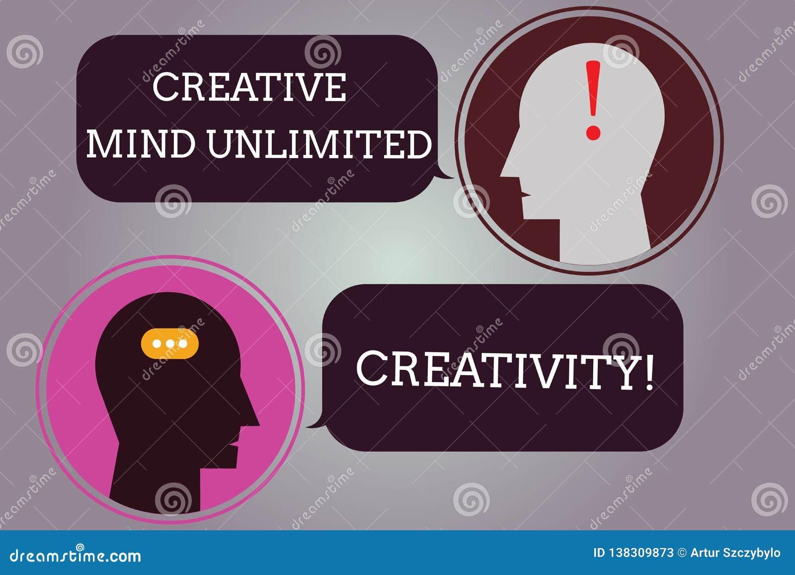 Konceptualna ręka pisze pokazywać Kreatywnie umysłowi Nieograniczoną twórczość Biznesowy fotografia tekst Pełno oryginalni pomysł