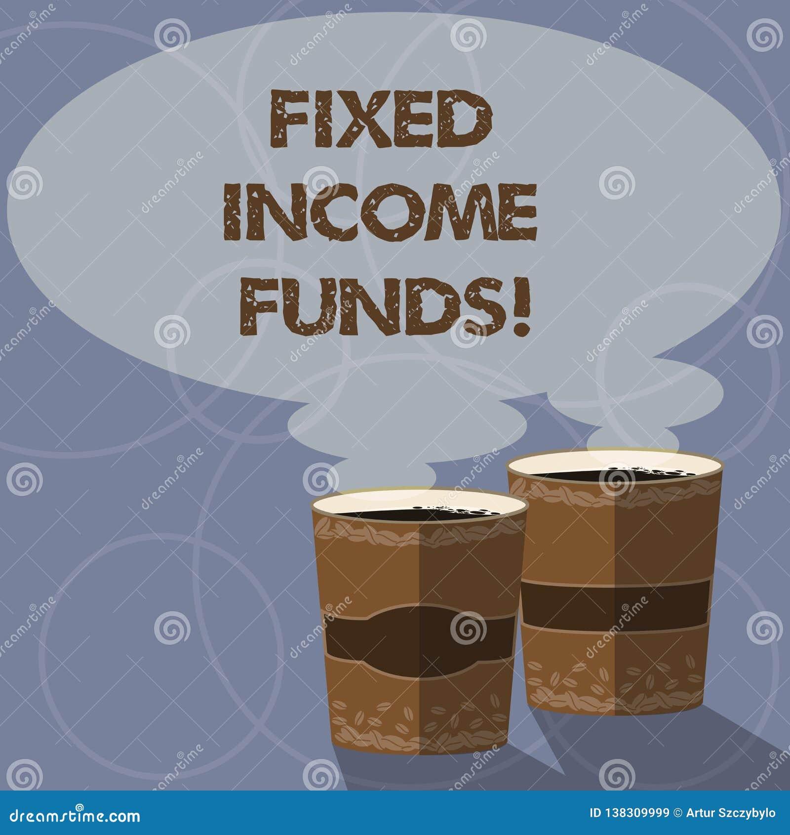 Konceptualna ręka pisze pokazywać Niezmiennych dochodów fundusze Biznesowa fotografia pokazuje jakaś typ któremu robi pożyczający