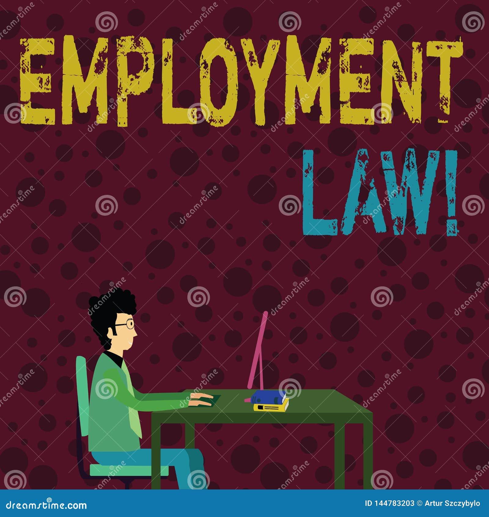 Konceptualna ręka pisze pokazywać Zatrudnieniowego prawo Biznesowy fotografia tekst obejmuje wszystkie tereny pracodawca pracow