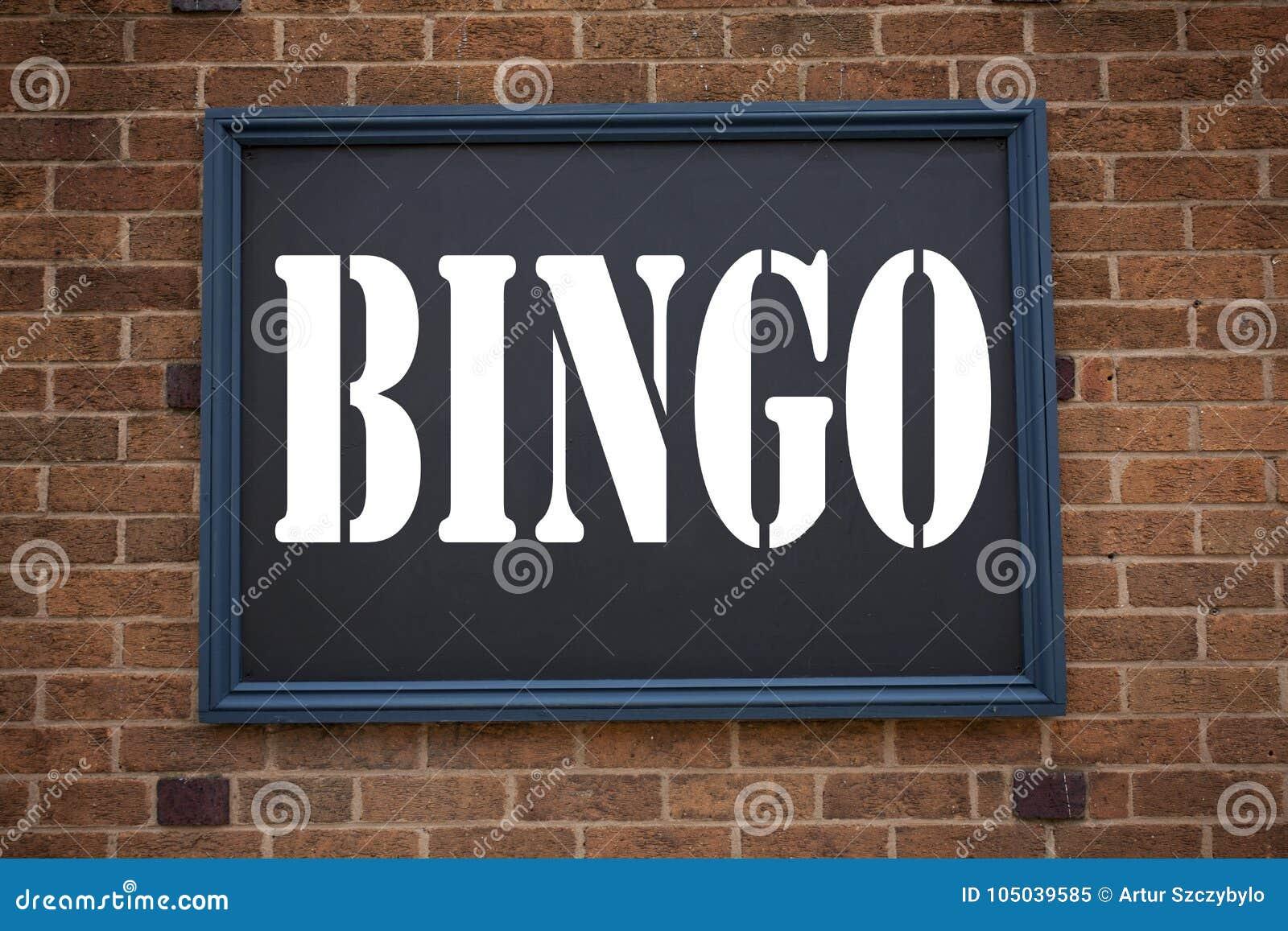 Konceptualna ręki writing teksta podpisu inspiracja pokazuje zawiadomienia Bingo Biznesowy pojęcie dla Pisać list Uprawiać hazard