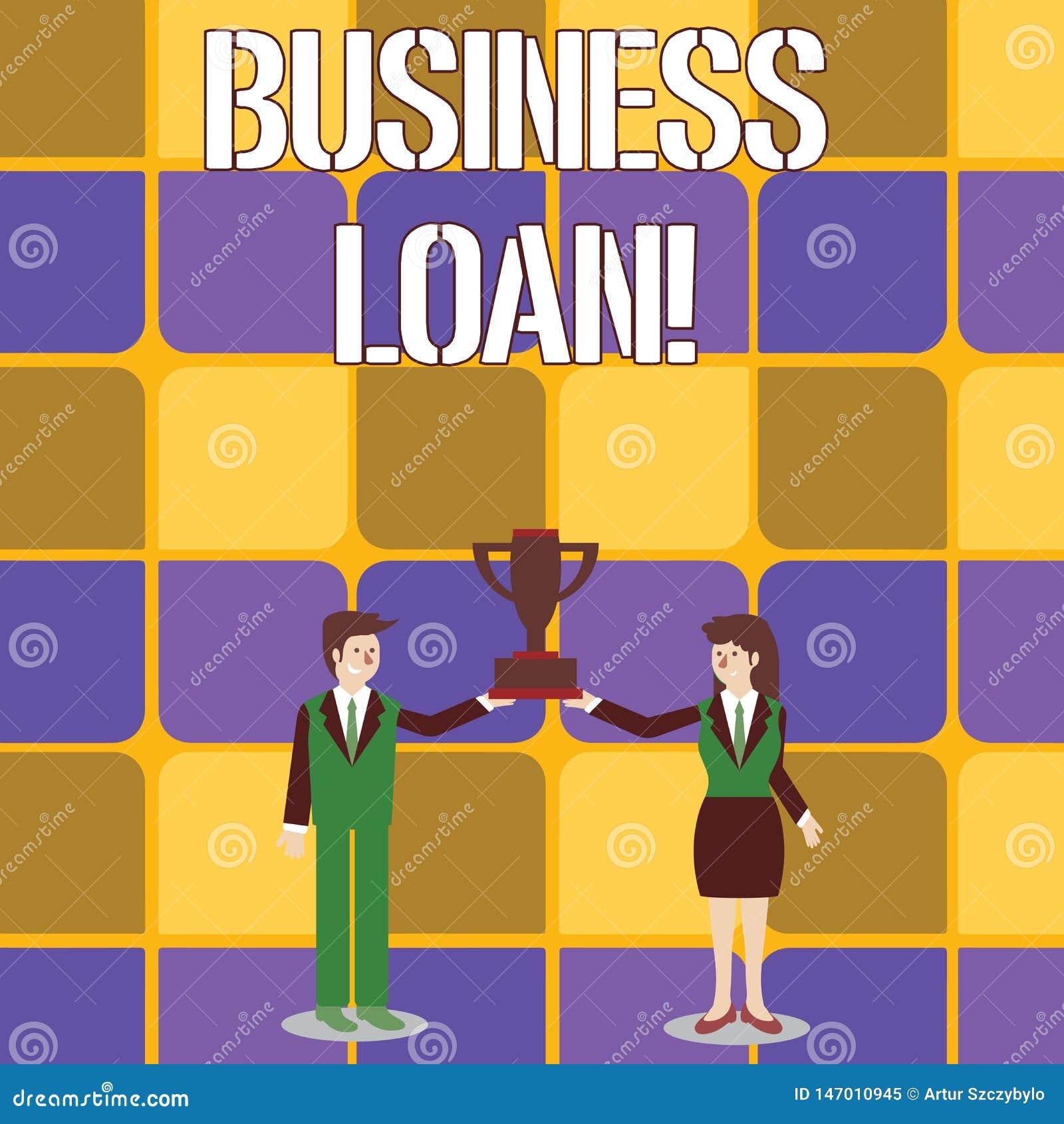 Konceptualna r?ki writing seansu Biznesowa po?yczka Biznesowe fotografia teksta pożyczki pod warunkiem, że mali biznesy dla różno
