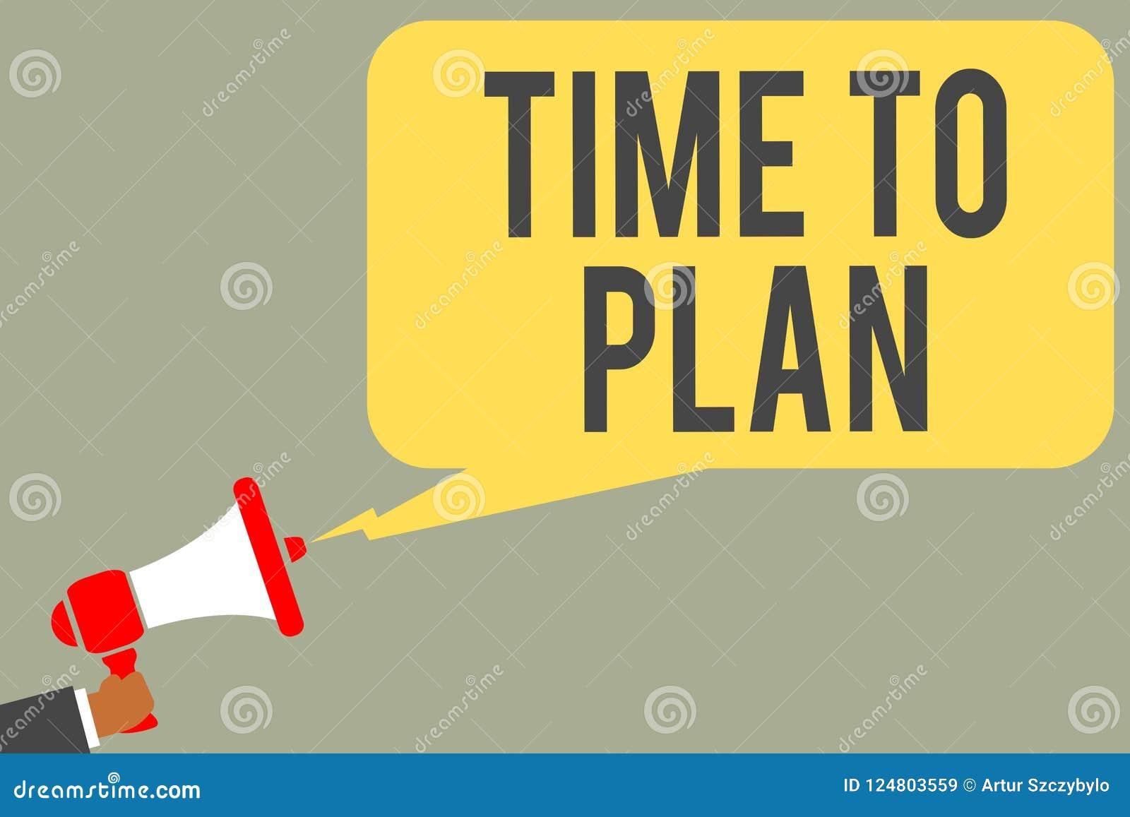 Konceptualny ręki writing pokazuje czas Planować Biznesowy fotografia teksta przygotowanie rzeczy Dostaje Przygotowywającą myśl i
