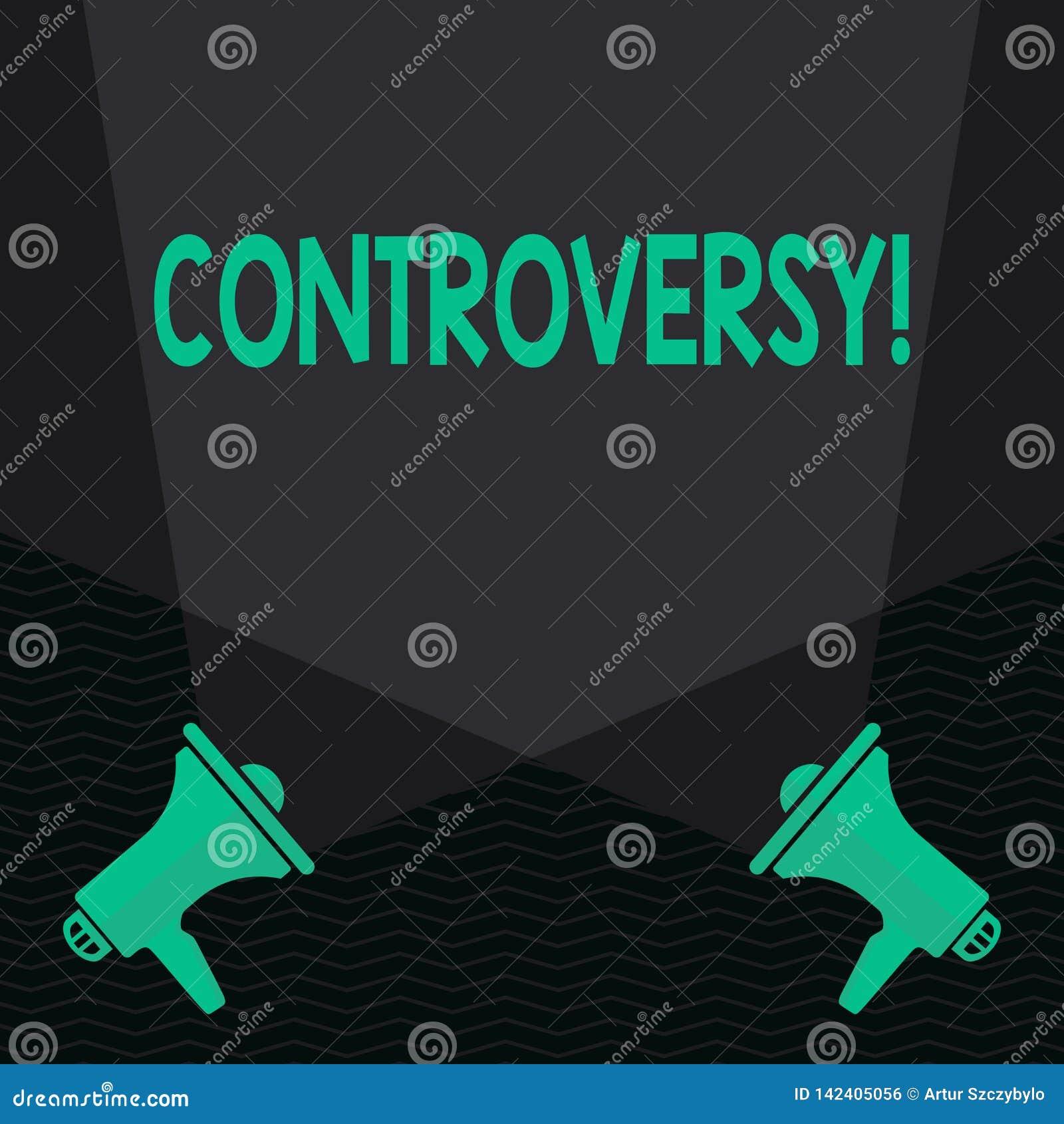 Konceptualny ręki writing pokazuje kontrowersję Biznesowy fotografia teksta nieporozumienie lub argument o coś znacząco