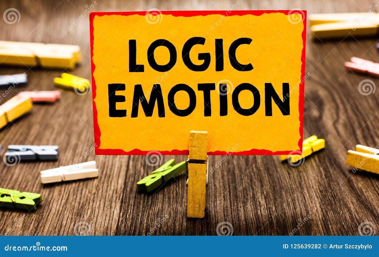 Konceptualny ręki writing pokazuje logiki emocję Biznesowa fotografia pokazuje Niemiłych uczucia obracających jaźń szacuneku Rozs
