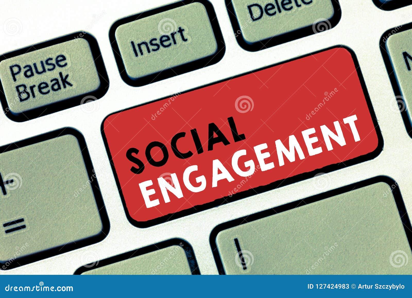 Konceptualny ręki writing pokazuje Ogólnospołecznego zobowiązanie Biznesowy fotografia teksta stopień zobowiązanie w online społe