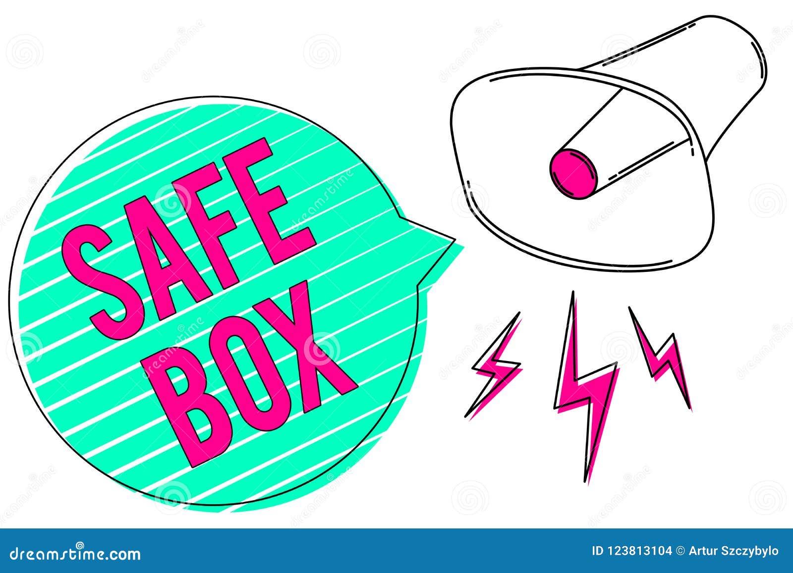Konceptualny ręki writing pokazuje skrytki pudełko Biznesowa fotografia pokazuje A małą strukturę dokąd ty możesz utrzymywać znac