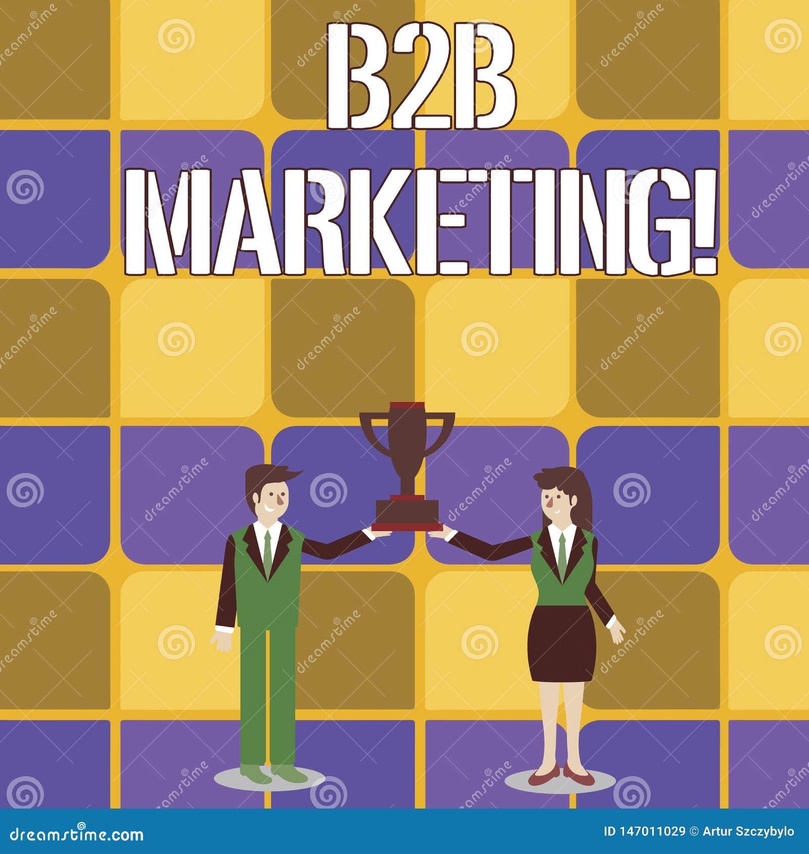 Konceptualny r?ki writing pokazuje B2B marketing Biznesowy fotografia teksta marketing produkty biznesy lub inny