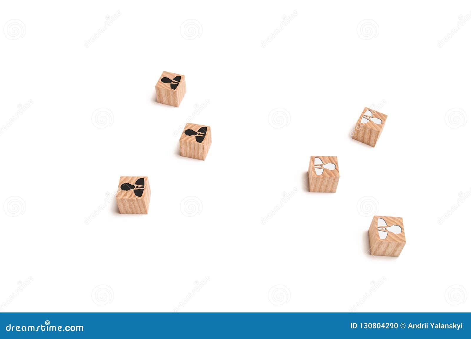 Konceptualny wizerunek grupy biznesmena stojak w opozycji do siebie Partner biznesowy przyciągać klientów