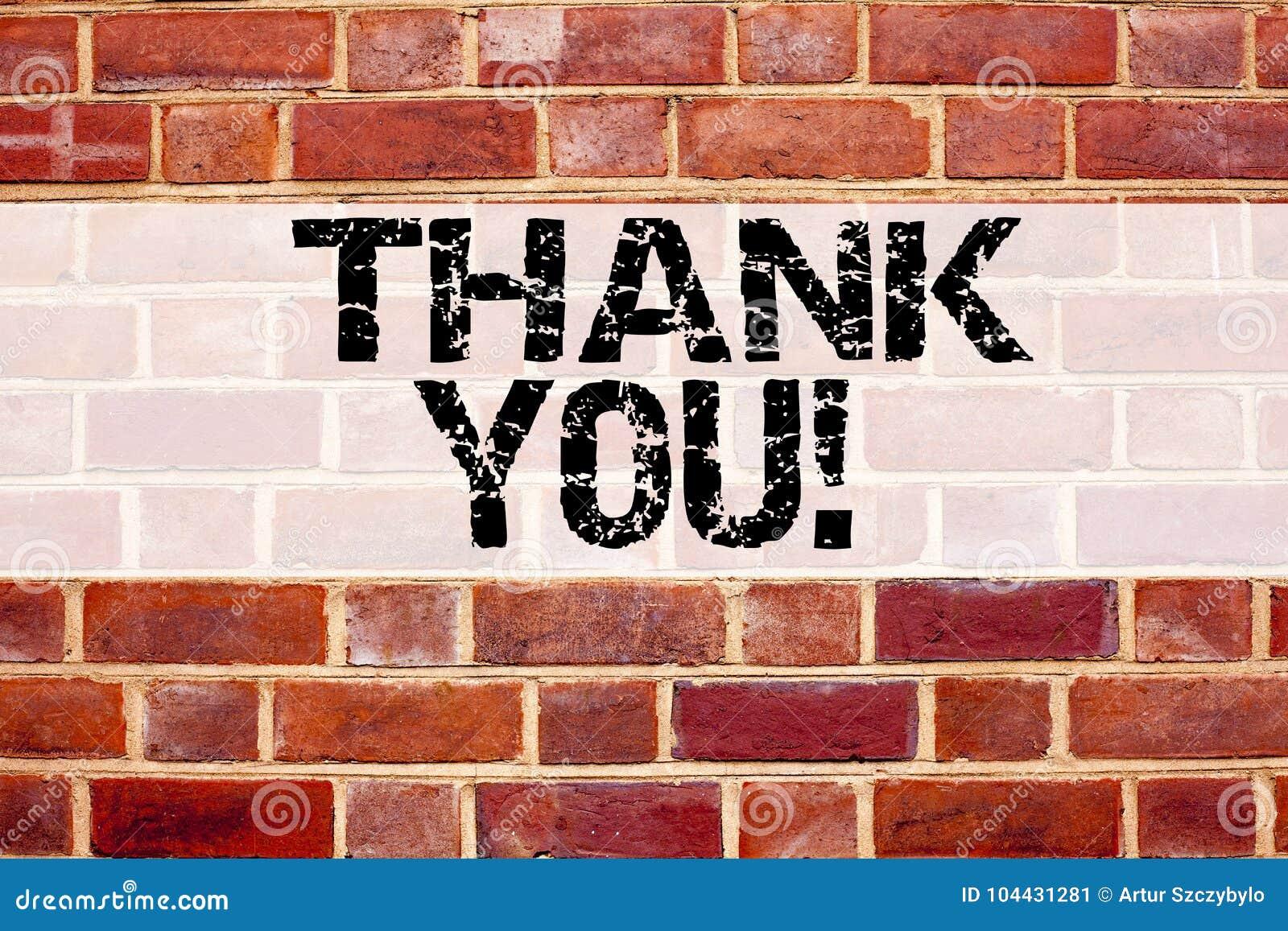 Konceptualny zawiadomienie teksta podpisu inspiraci seans Dziękuje Ciebie Biznesowy pojęcie dla Dawać wdzięczności Docenia wiadom