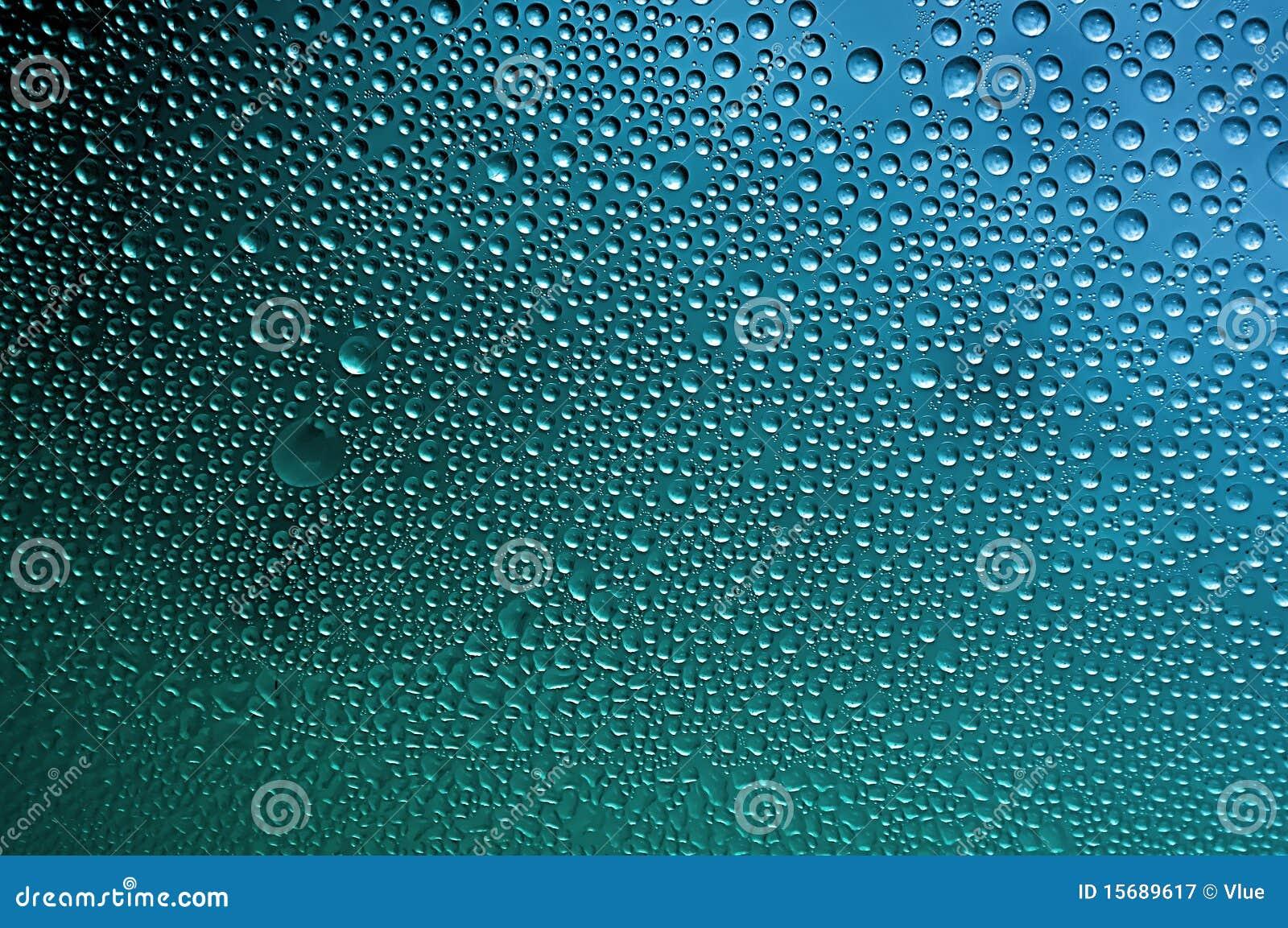 Kondensation-Wasser-Luftblasen