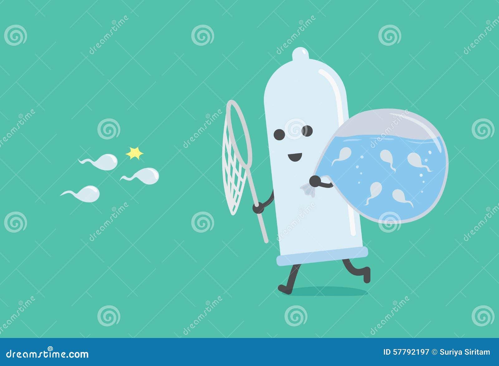 Kondoma chwytający semen wodna torba