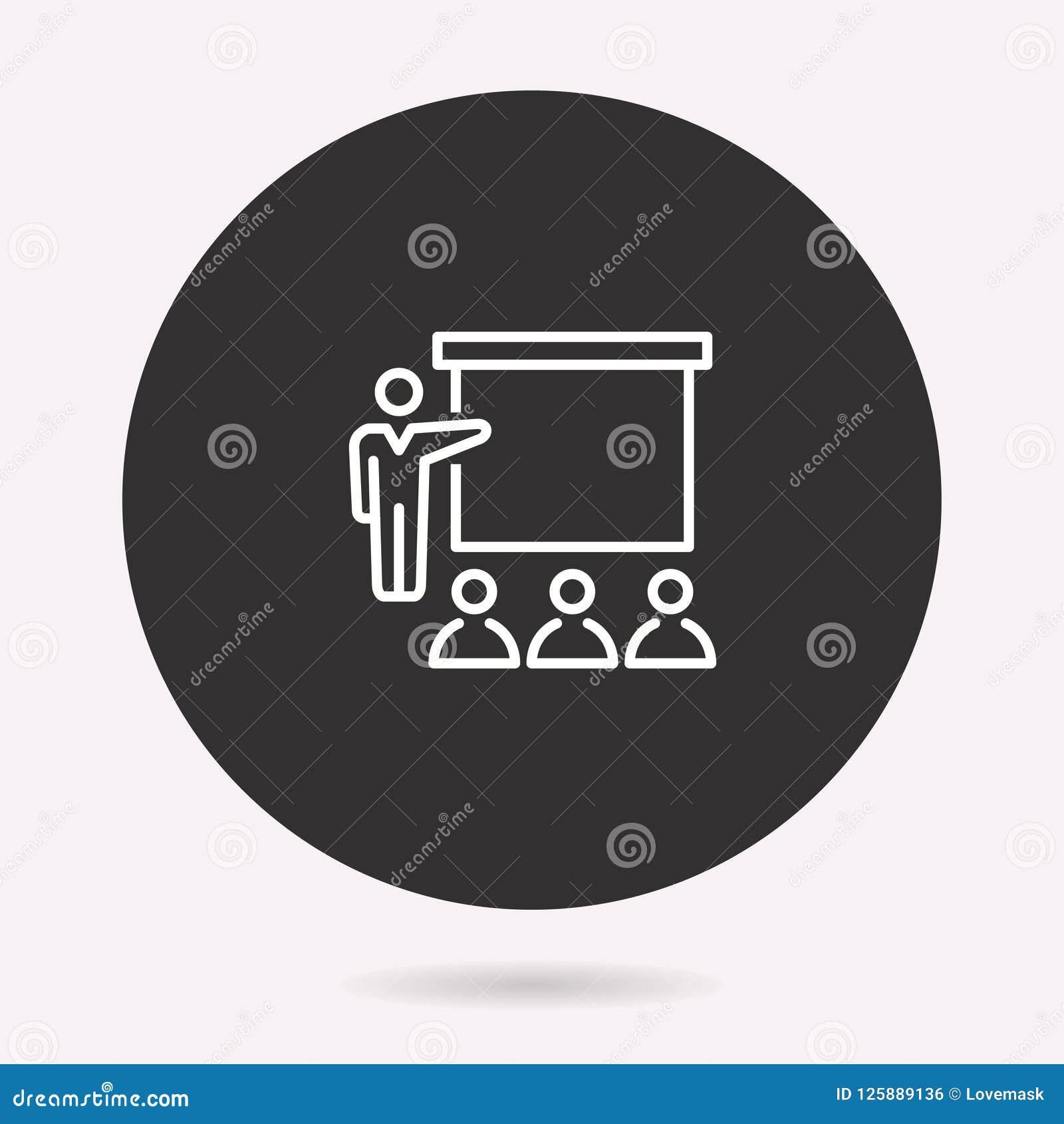 Konferencja - wektorowa ikona Ilustracja odizolowywająca prosty piktogram