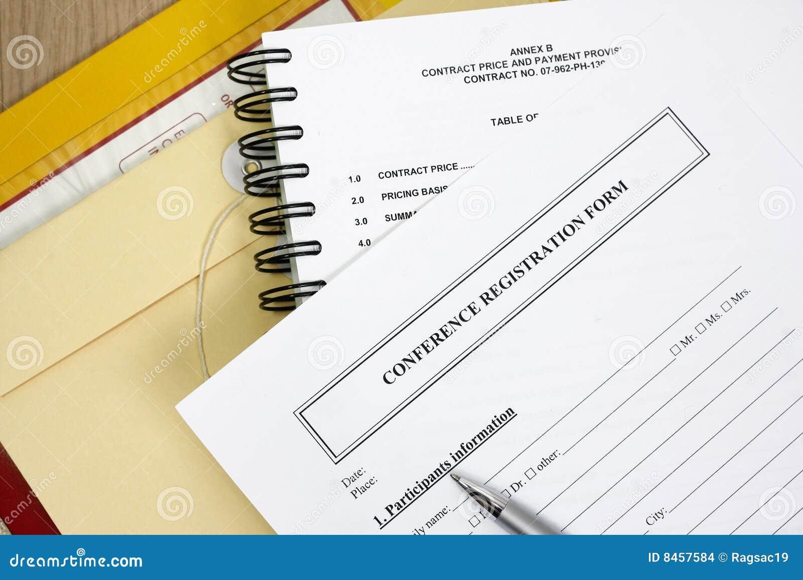 Konferensdatalistregistrering