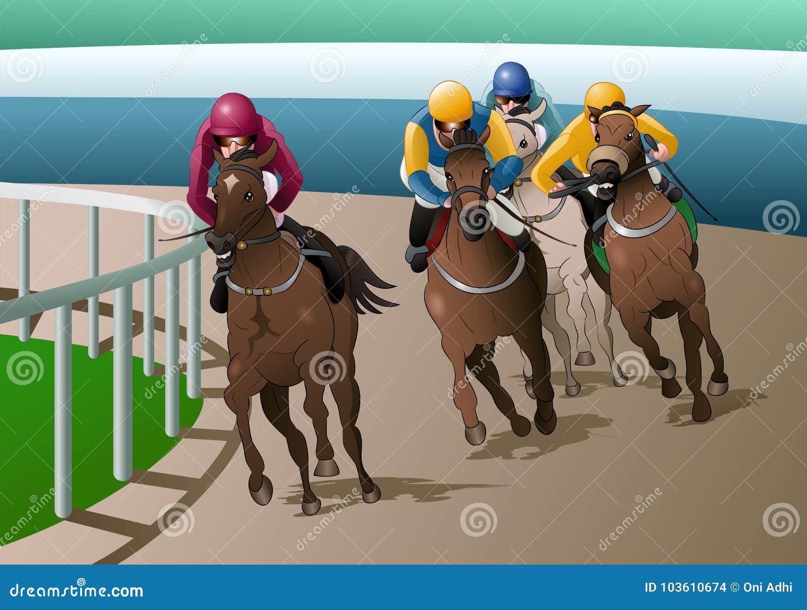 Koni ścigać się rywalizacja