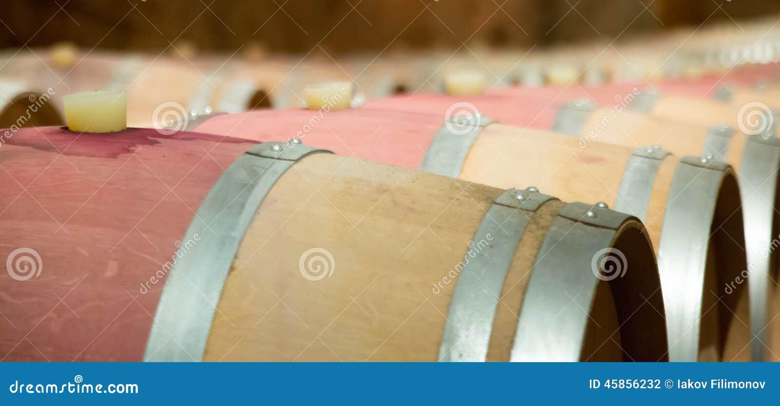 Koniak bocznej piwnicy oak wino tam