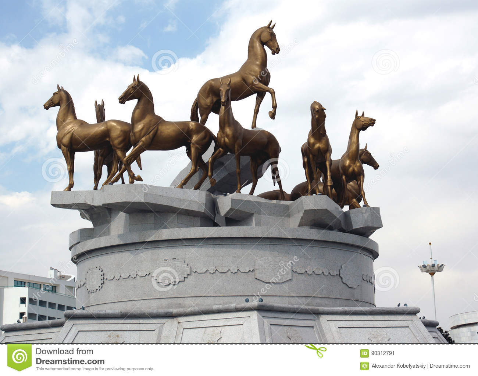Konie w Ashgabat