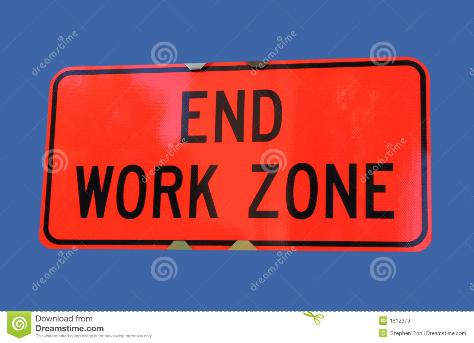 Koniec pracy szyldowa strefy