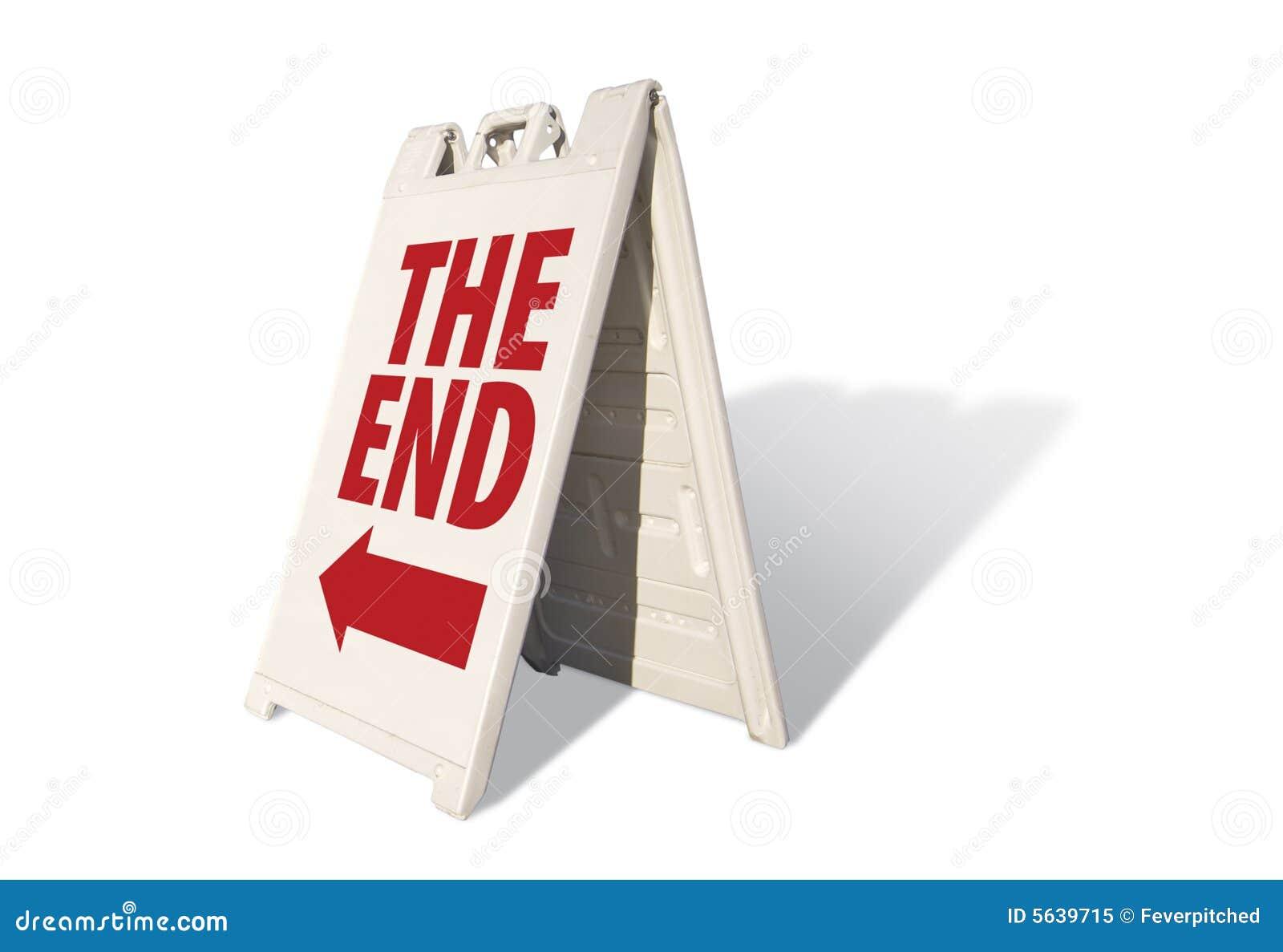 Koniec znak namiot