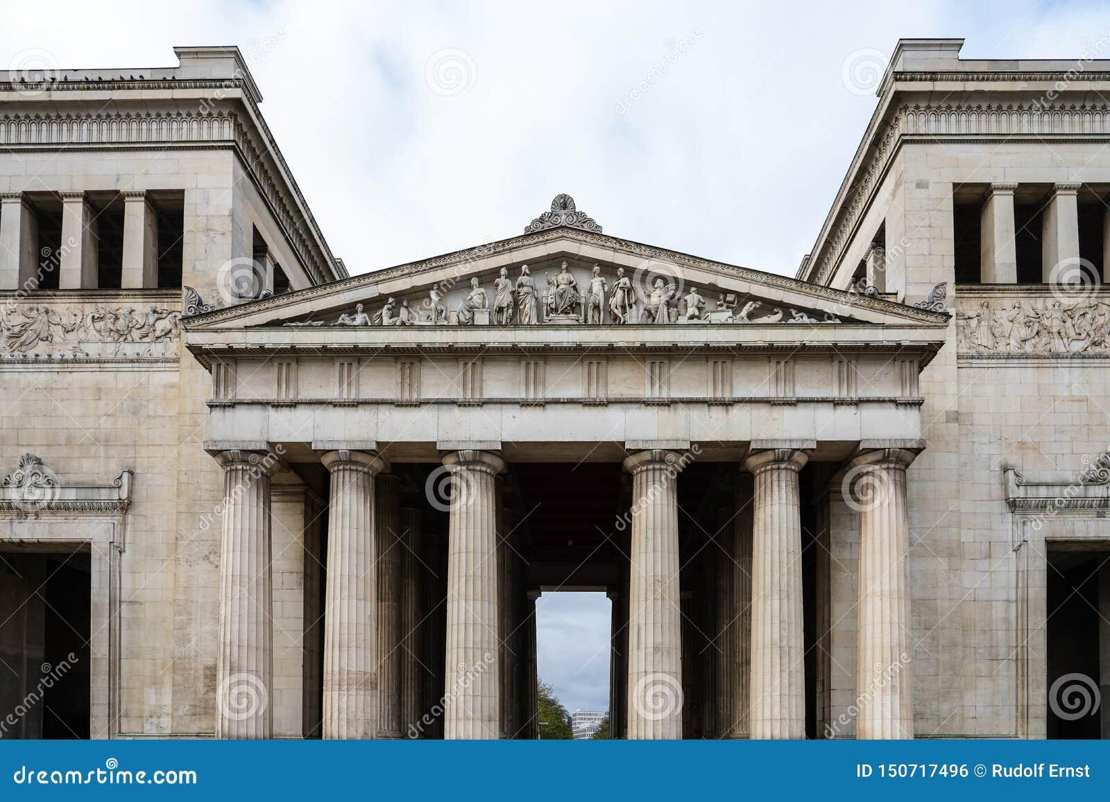 Konigsplatz - Square,国家资本慕尼黑,巴伐利亚,慕尼黑,德国国王