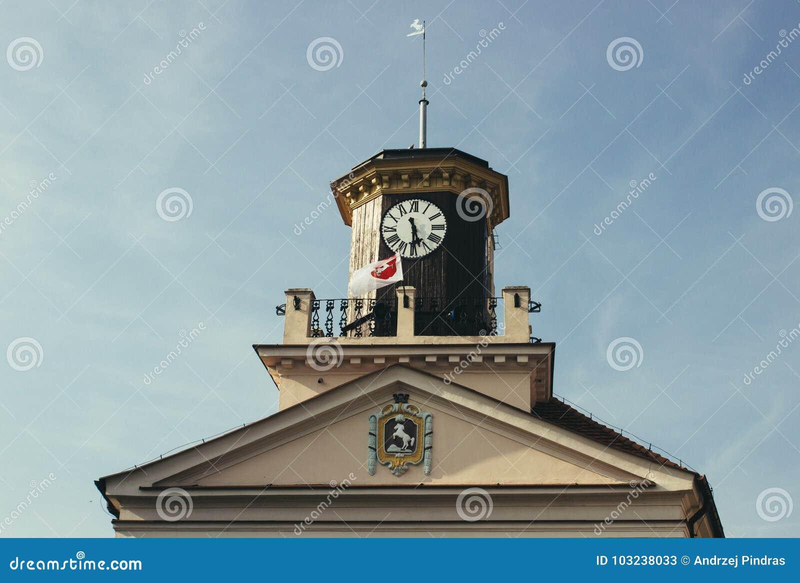 Konin, Pologne Hôtel de ville historique Une plus grande province de la Pologne
