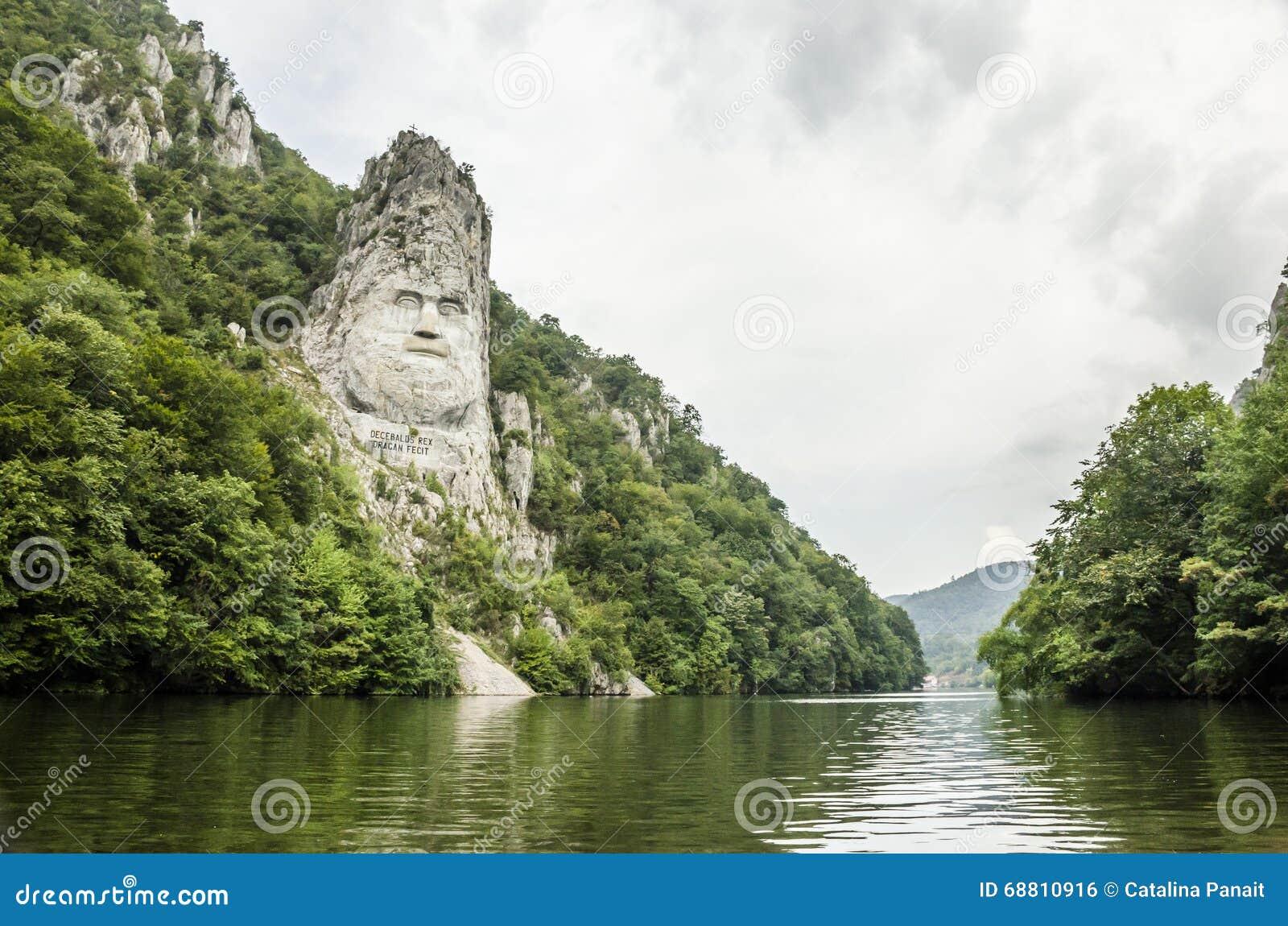 Koning Decebalus, op de rivier Donau