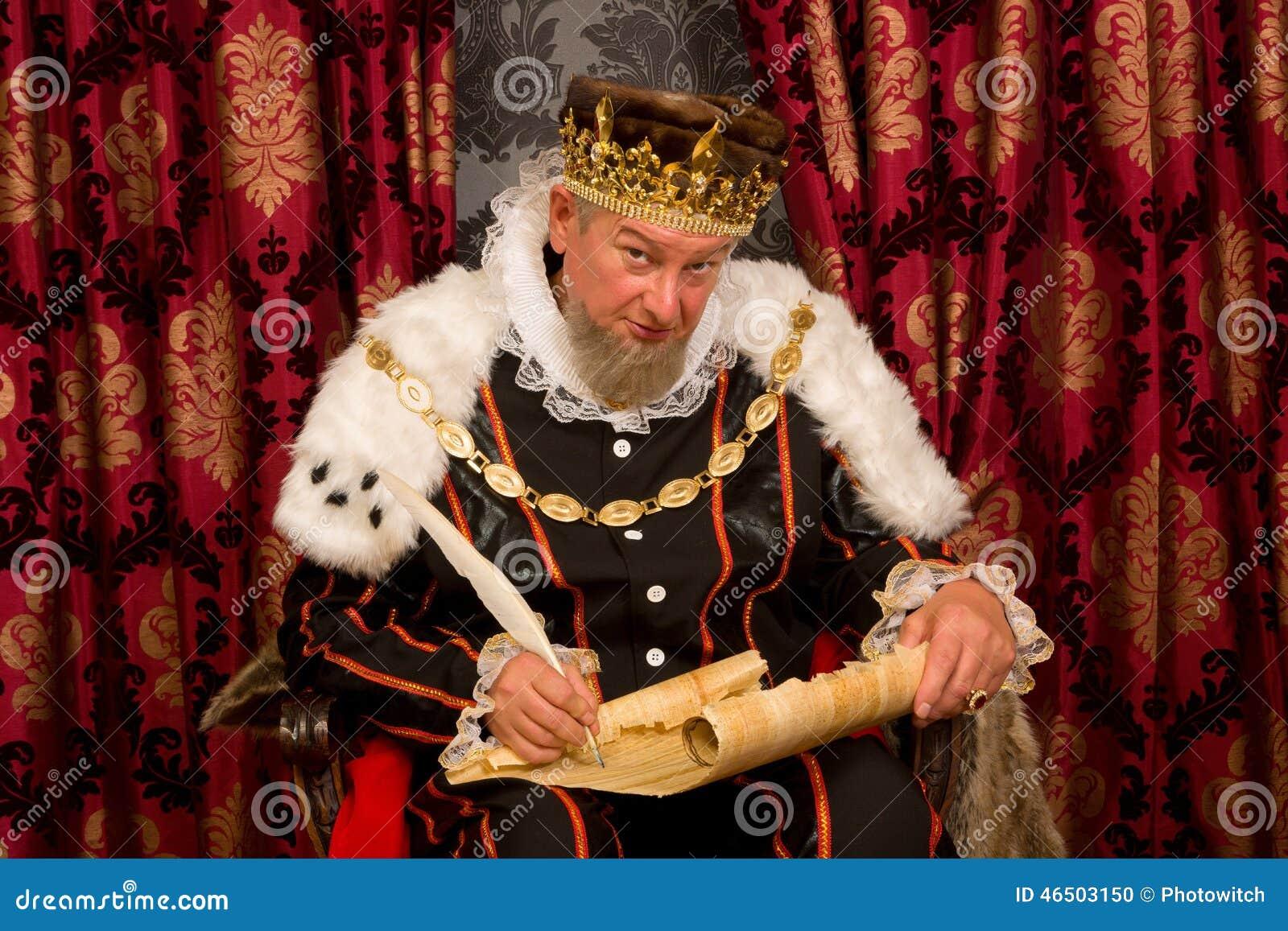 Koning die nieuwe wet ondertekenen