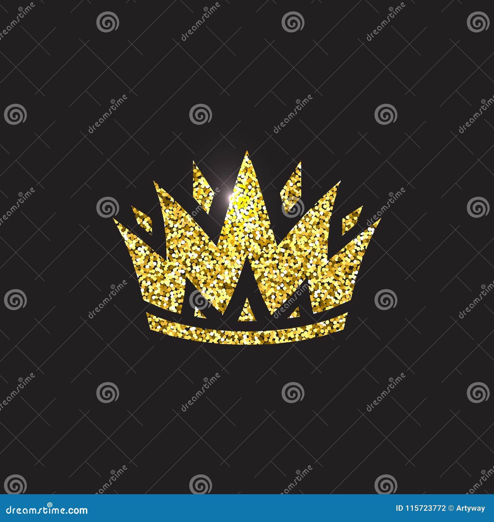 Koninginkroon, koninklijk gouden hoofddeksel Konings gouden toebehoren Geïsoleerde vectorillustraties Het symbool van de elitekla