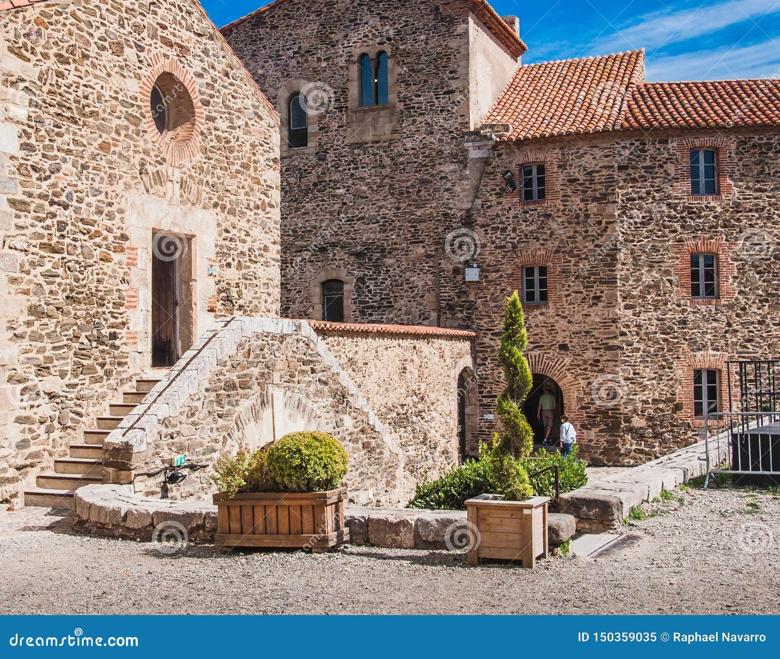 Koninklijk Kasteel Collioure in Pyreneeën-Orientales, Frankrijk