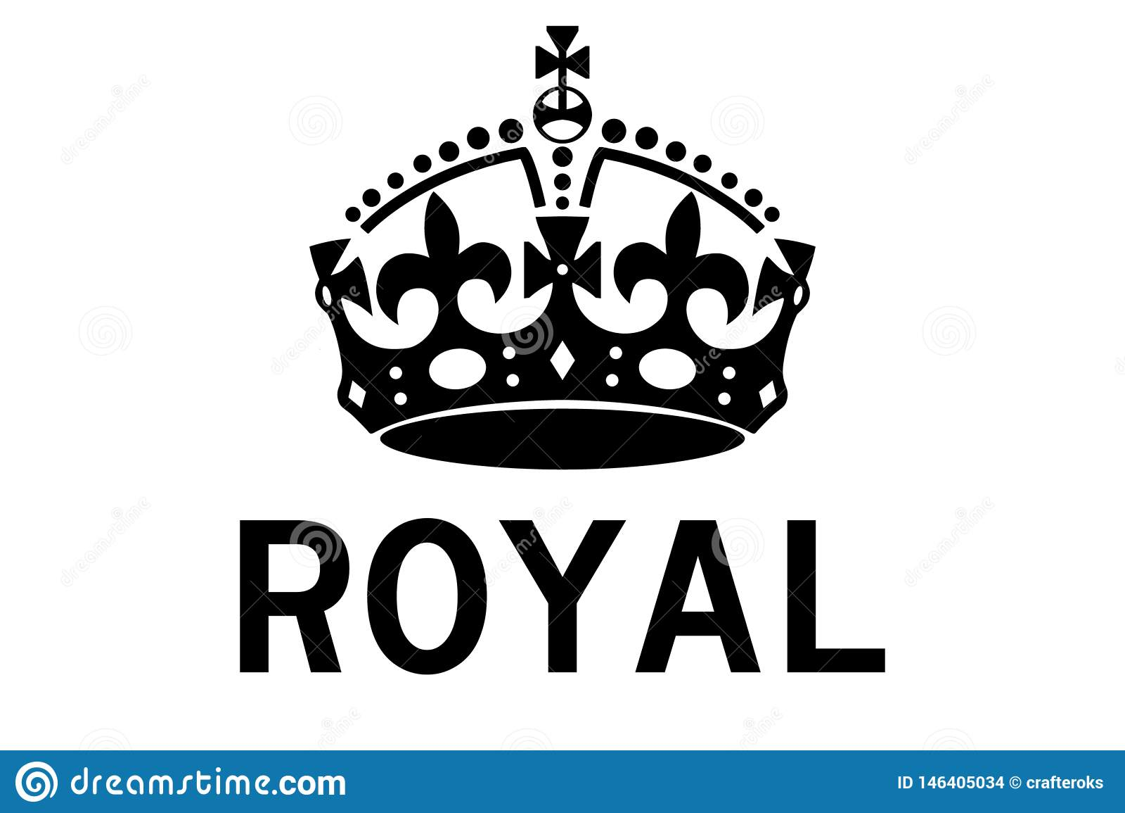 Koninklijke kroon vectoreps illustratie door crafteroks
