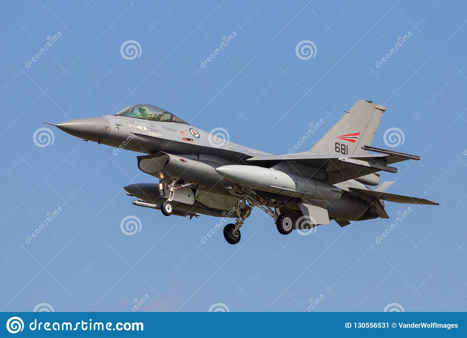 Koninklijke Noorse Luchtmachtf16 vechters straalvliegtuigen