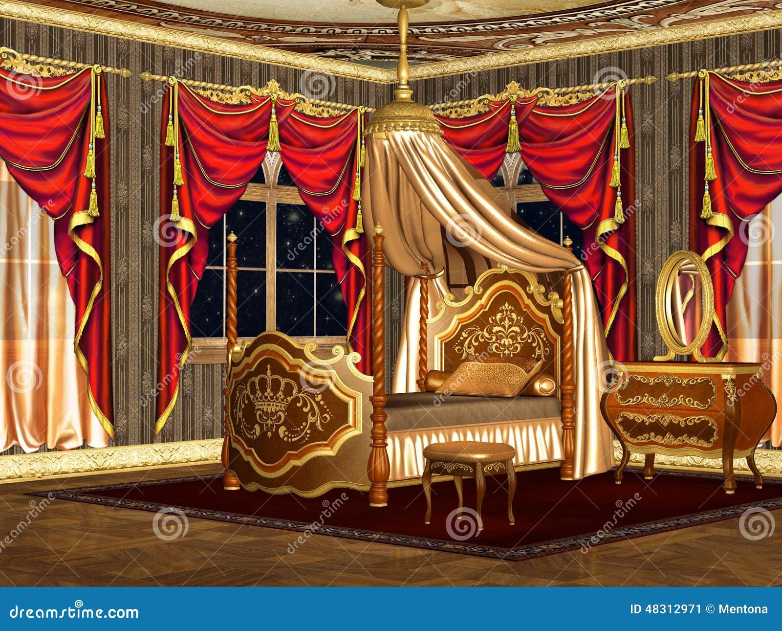 koninklijke slaapkamer stock illustratie afbeelding 48312971. Black Bedroom Furniture Sets. Home Design Ideas