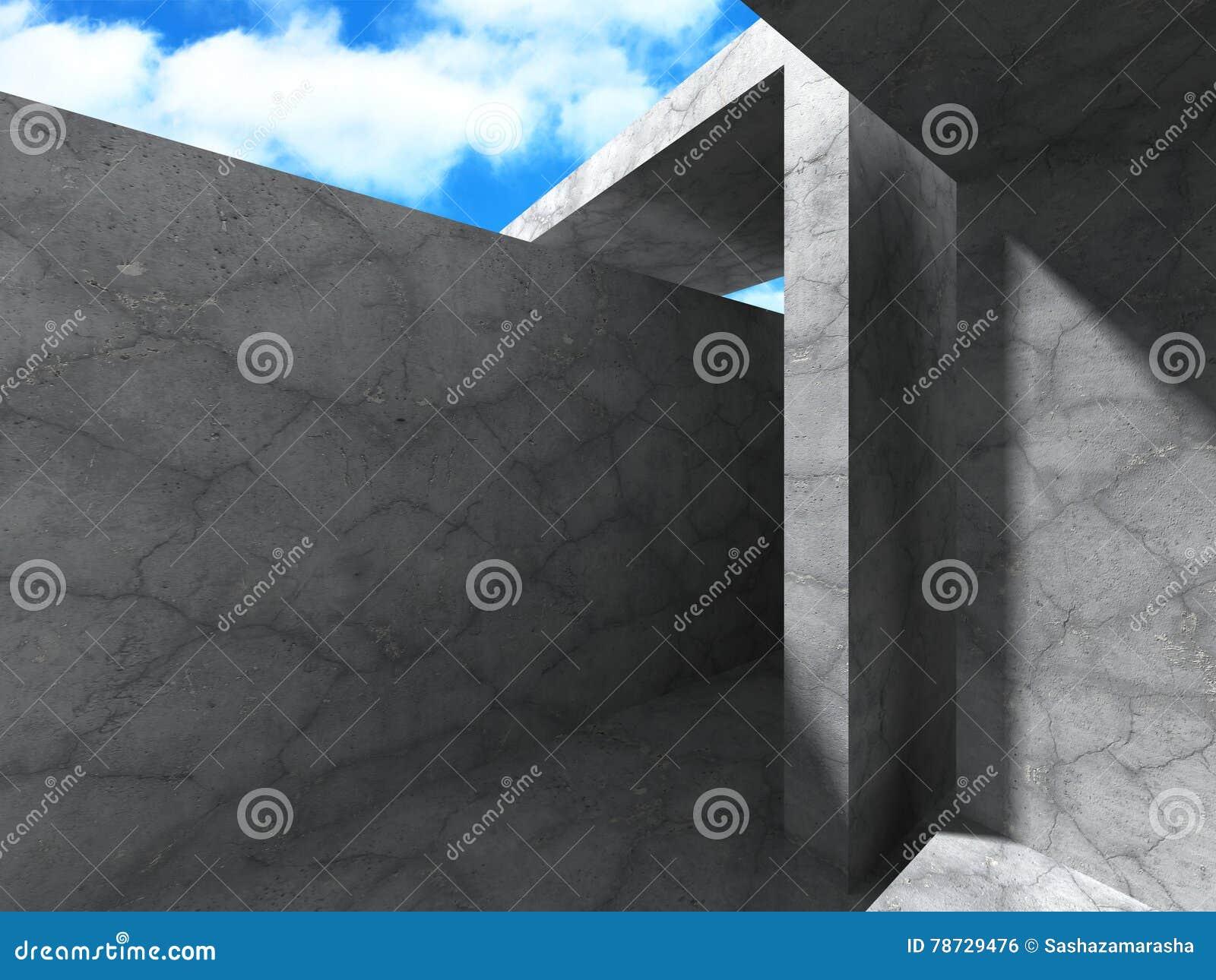 Konkret abstrakt modern arkitekturkonstruktionsbakgrund