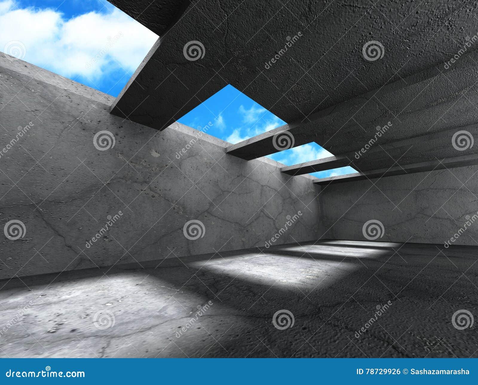 Konkret arkitekturbakgrund Modern desig för abstrakt byggnad