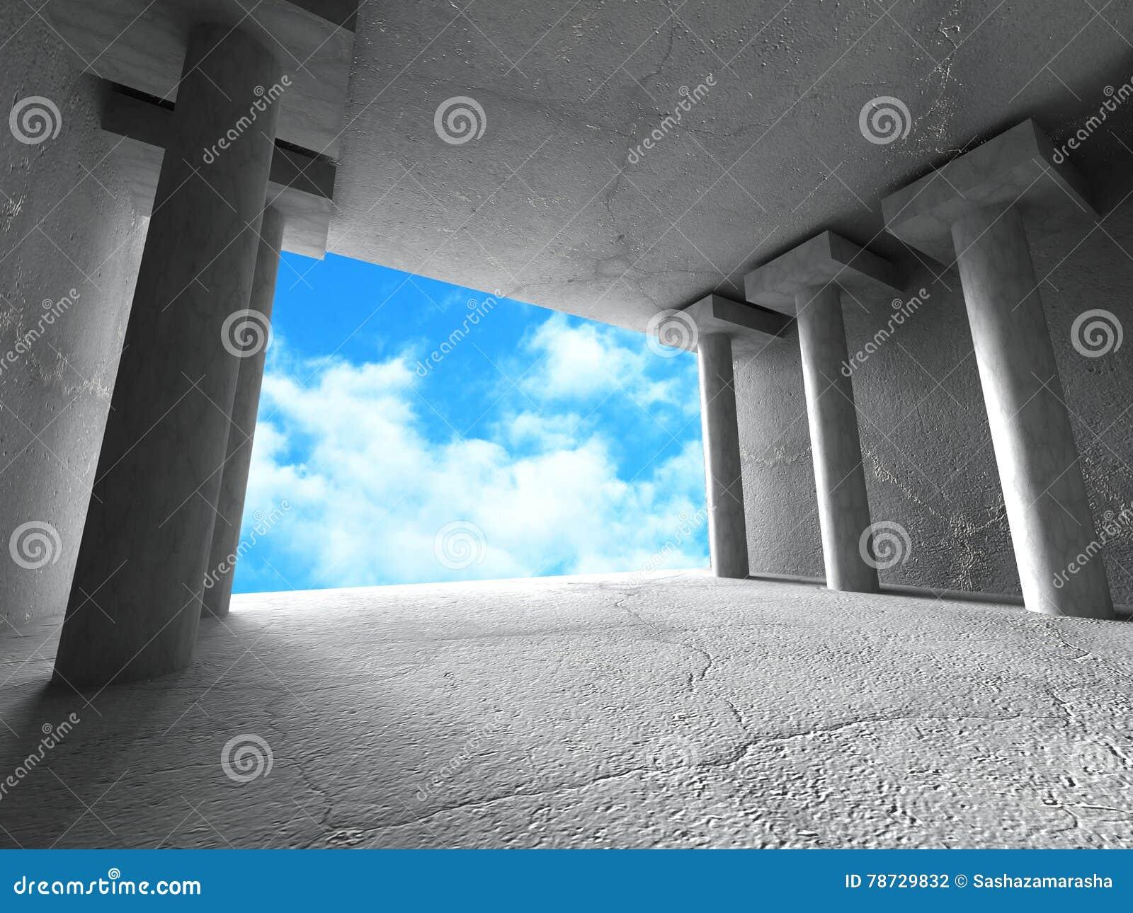Konkret geometrisk abstrakt bakgrund för arkitektur