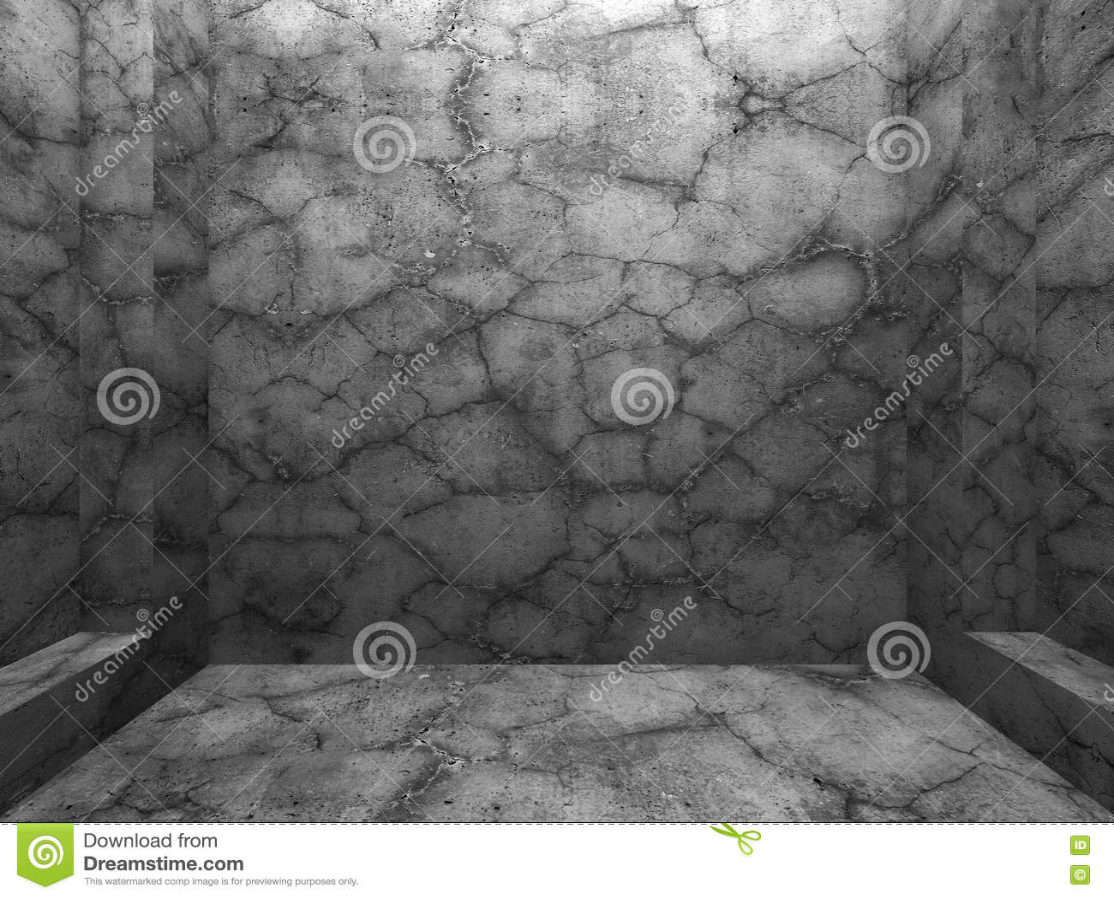 Konkret geometrisk vägg Arkitekturdesignbakgrund