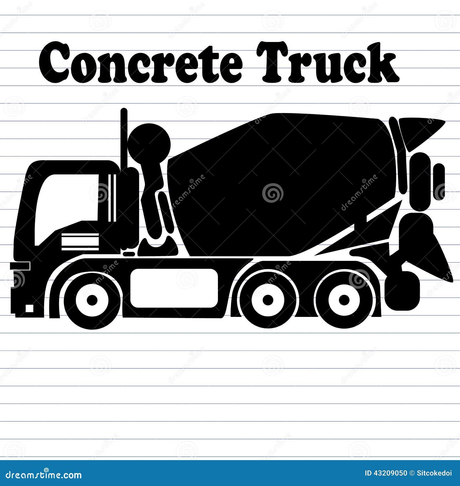 Download Konkret lastbil vektor illustrationer. Illustration av konkret - 43209050