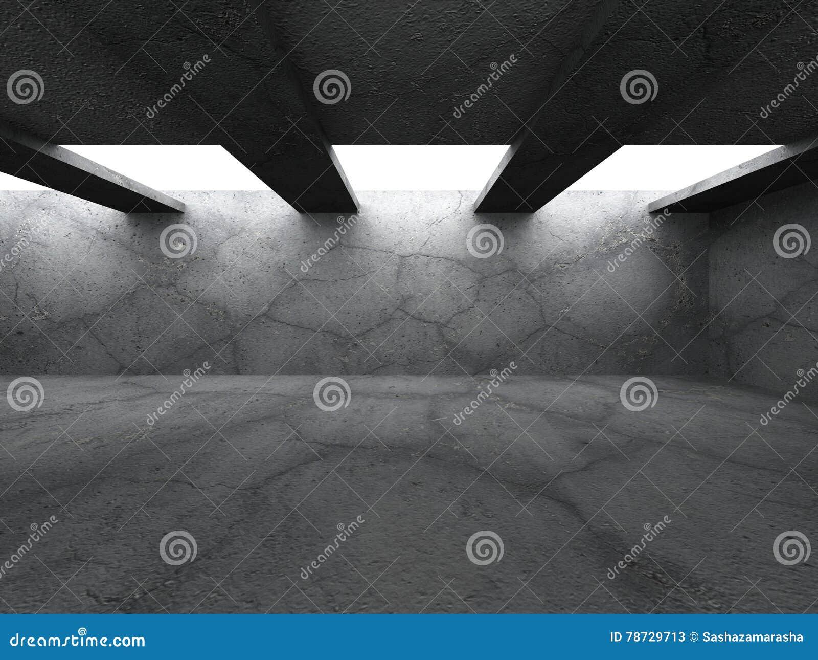 Konkret mörker tömmer ruminre Abstrakt stads- arkitektur b