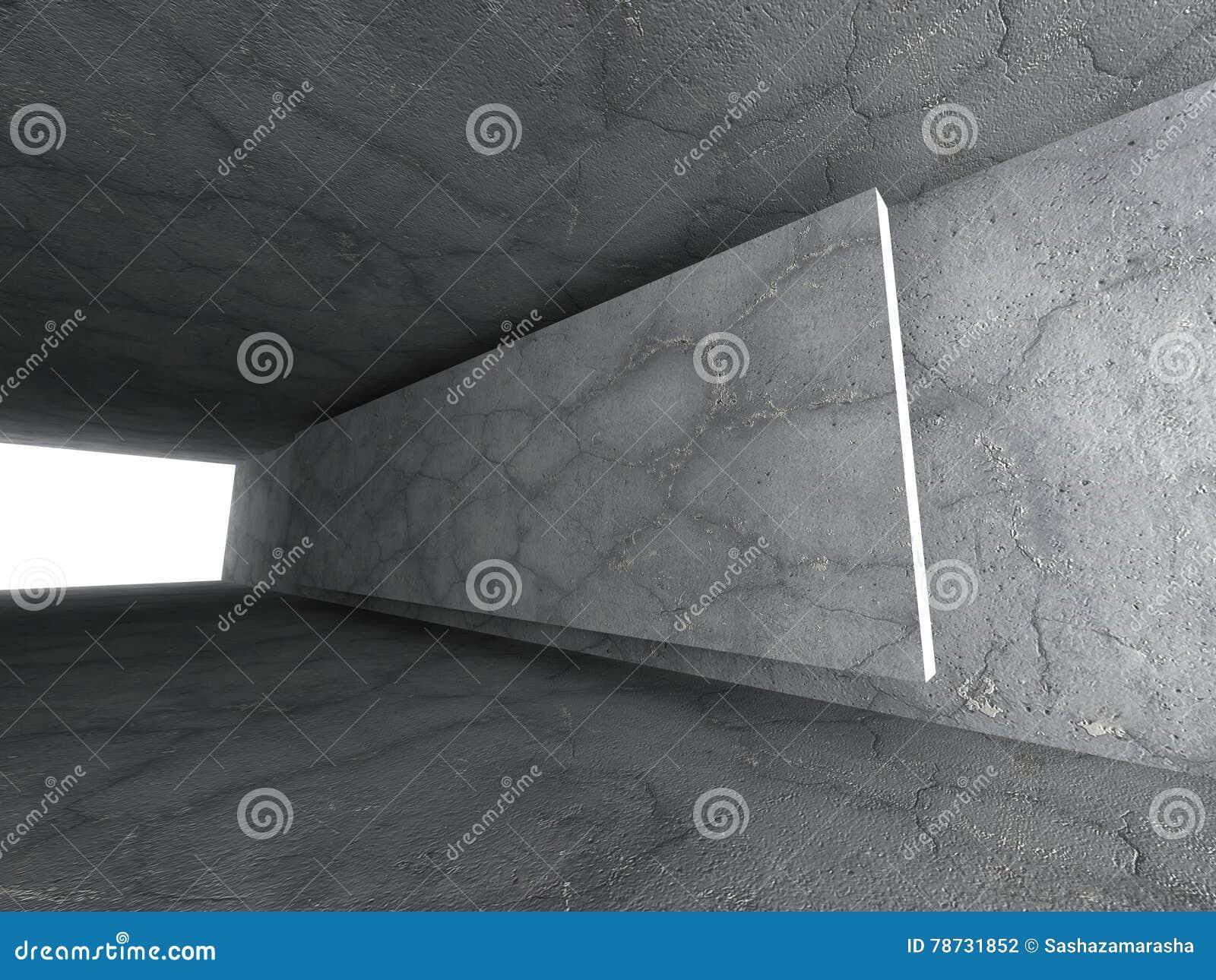 Konkret tomt stads- rum Mörka stenväggar Arkitekturbackgr