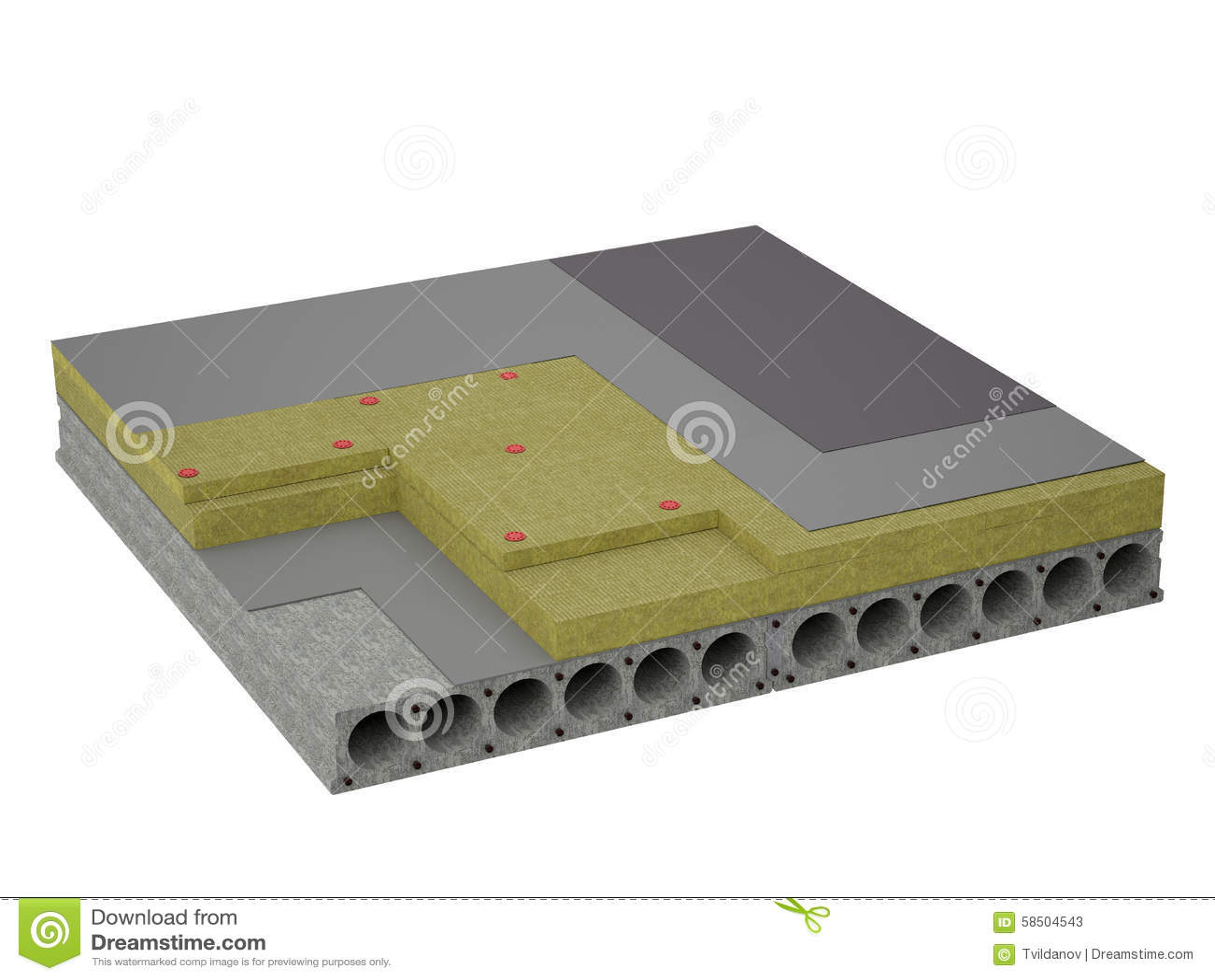 konkrete boden isolierung stock abbildung bild von isolierung 58504543. Black Bedroom Furniture Sets. Home Design Ideas