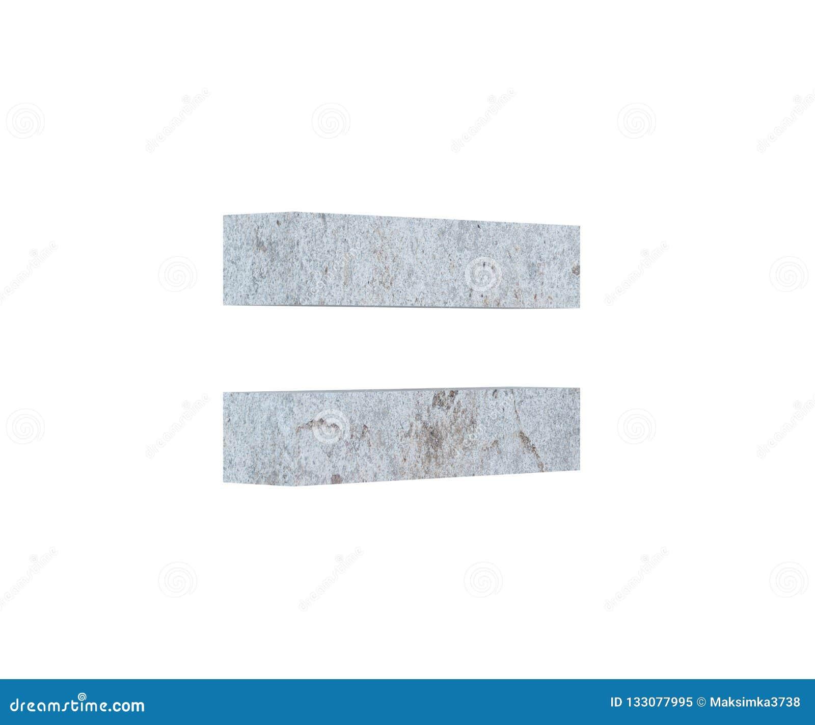 Konkretes Symbol der Wiedergabe 3D - Gleichgestelltes 3d übertragen Abbildung