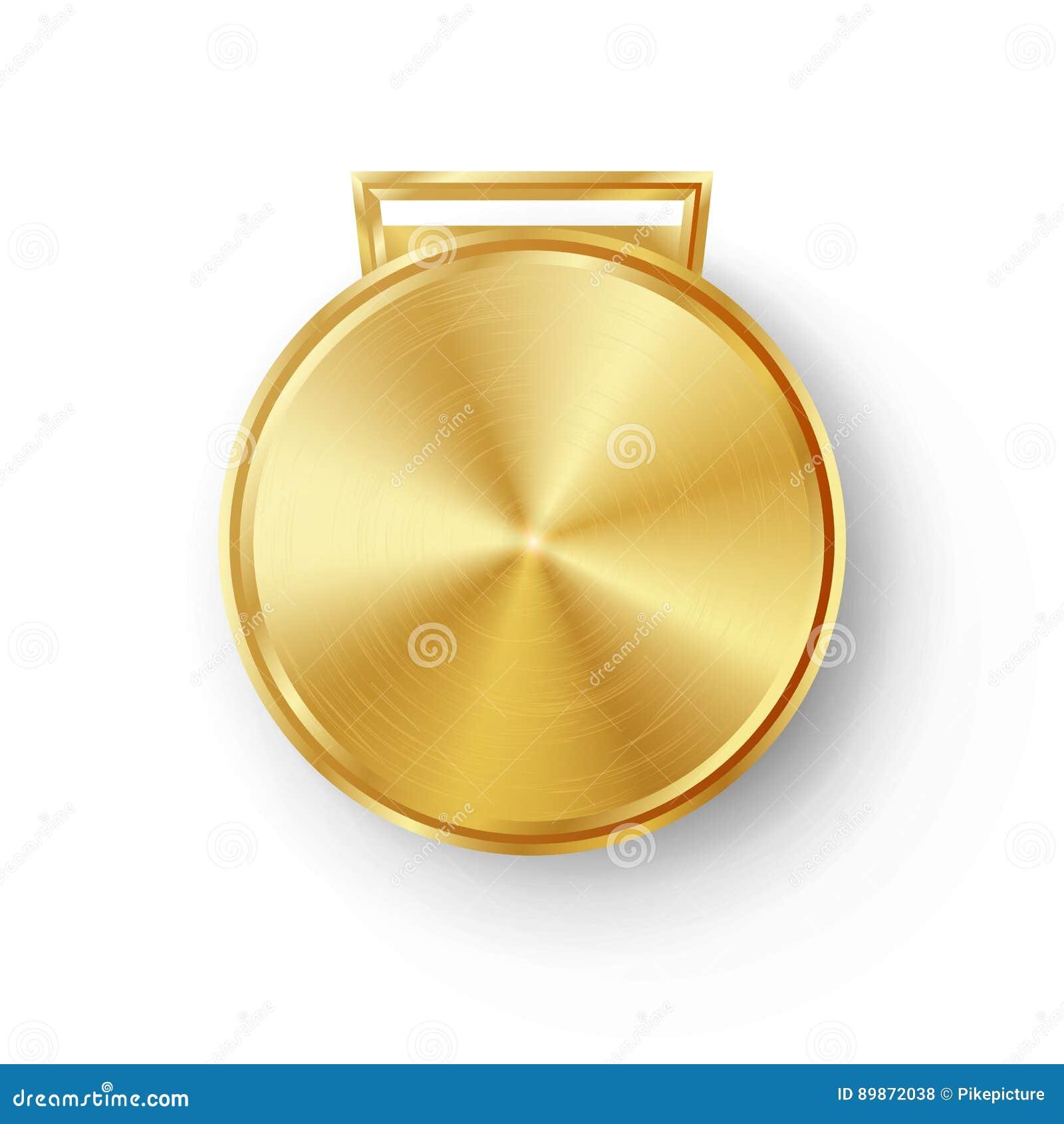 Konkurrens spelar den guld- medaljmallvektorn Geometriskt emblem för realistisk cirkel Teknologi perforerad metalltextur Guld spo