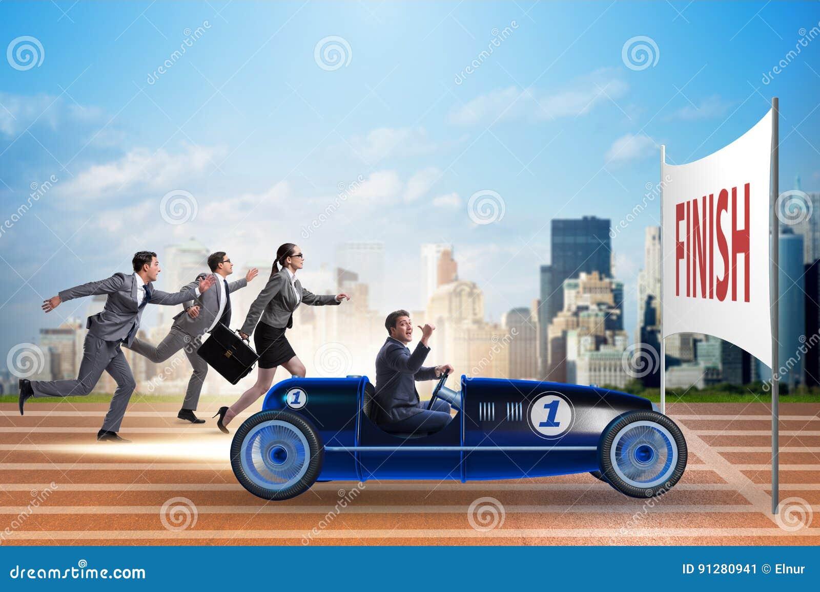 Konkurrensbegreppet med att konkurrera för affärsfolk
