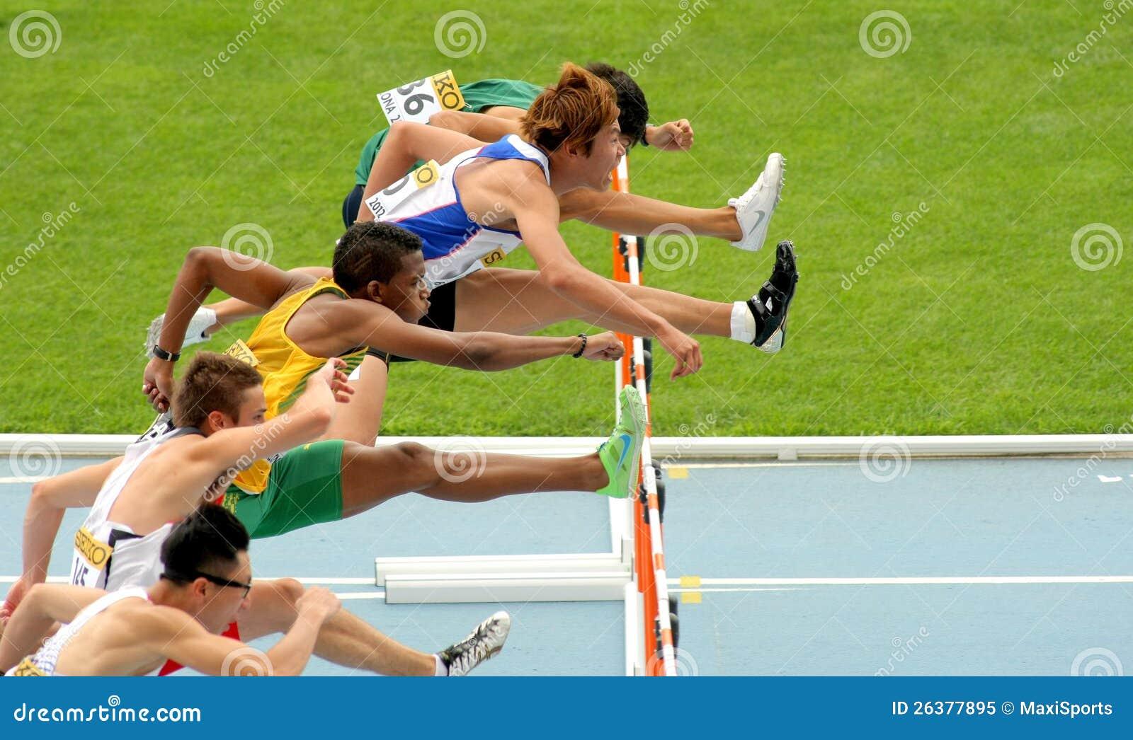 Konkurrenten der 110-Meter-Hürden