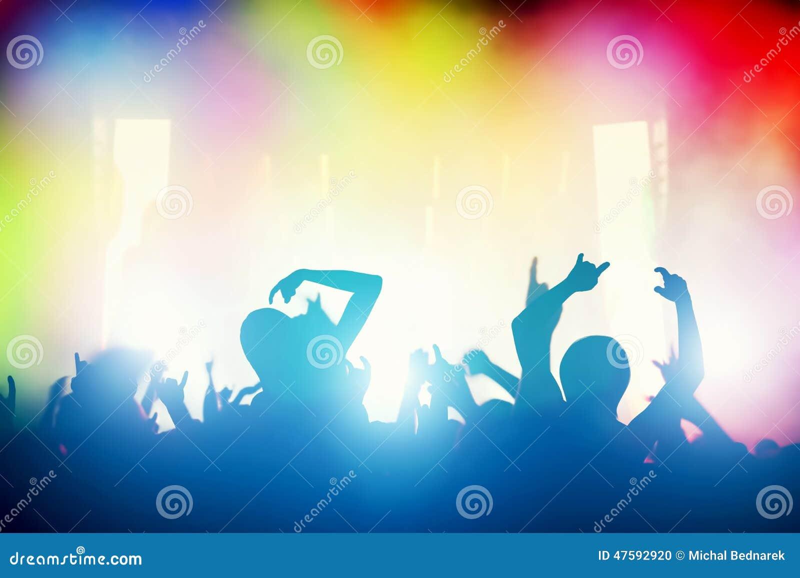 Konsert diskoparti Folk som har gyckel i nattklubb