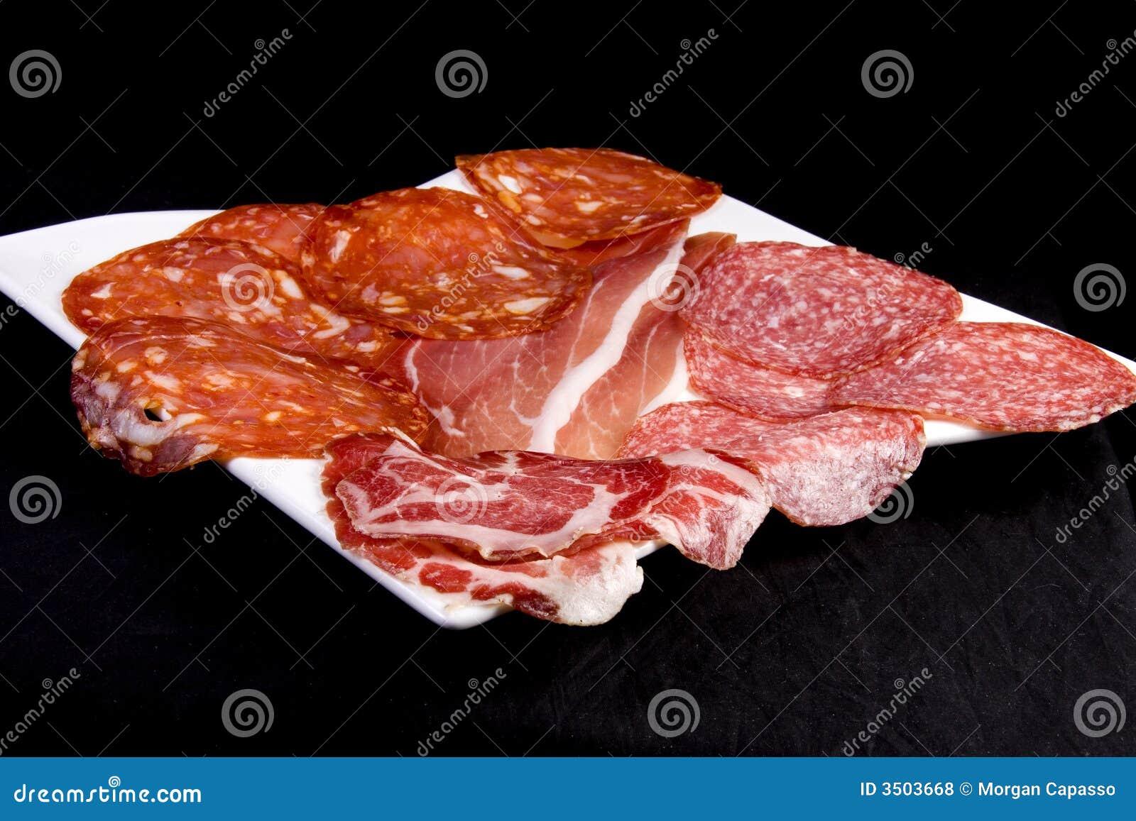 Konservierte Fleischmehrlagenplatte